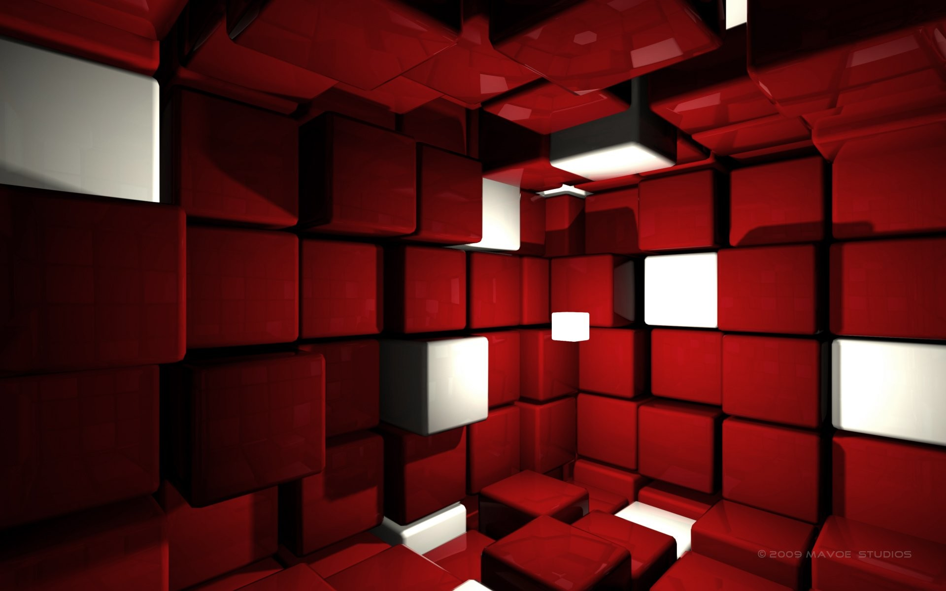 1920x1200 3D Red Backgrounds