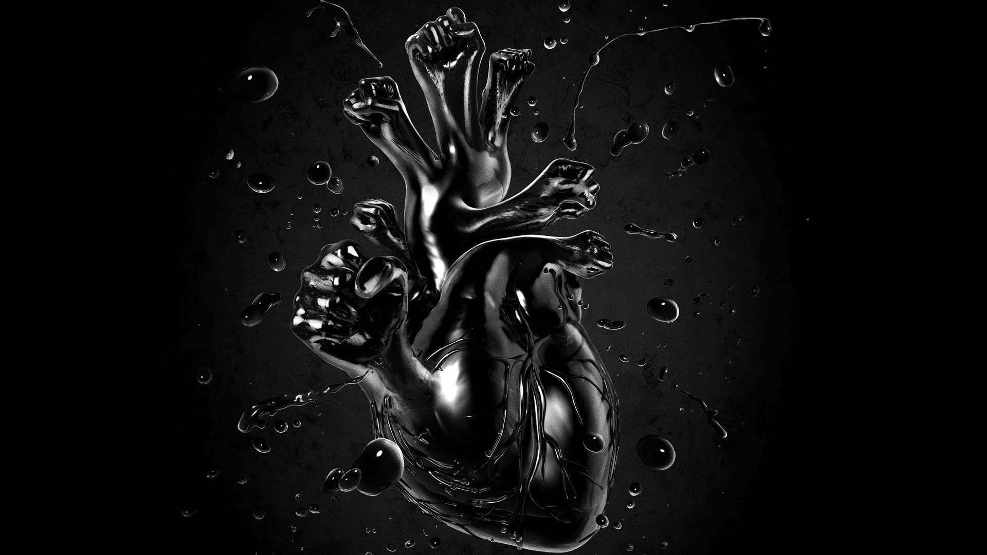 Black And White Heart Wallpaper 55 Images