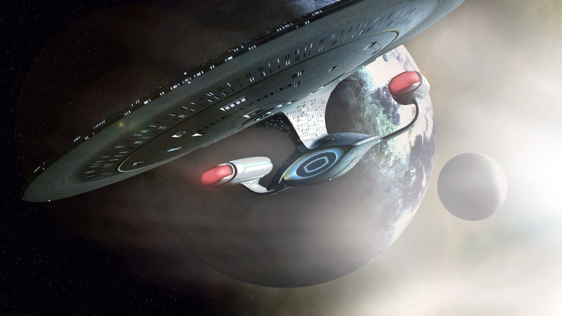 1920x1080 The Galaxy class USS Enterprise NCC 1701 D from the Star Trek Th Next  Generation.