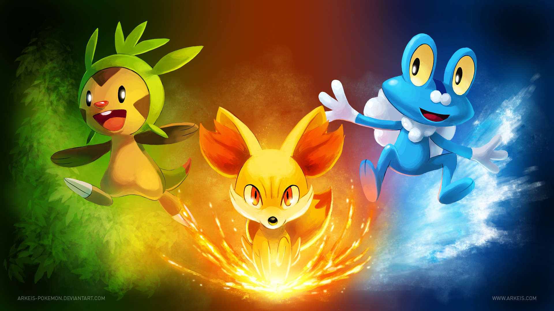 1920x1080 Pokemon X And Y Final Evolution Pictures for Starters