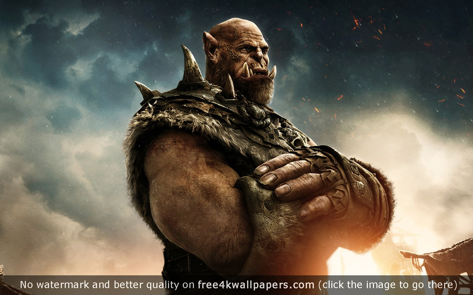 1920x1200 Orgrim Warcraft Movie wallpaper