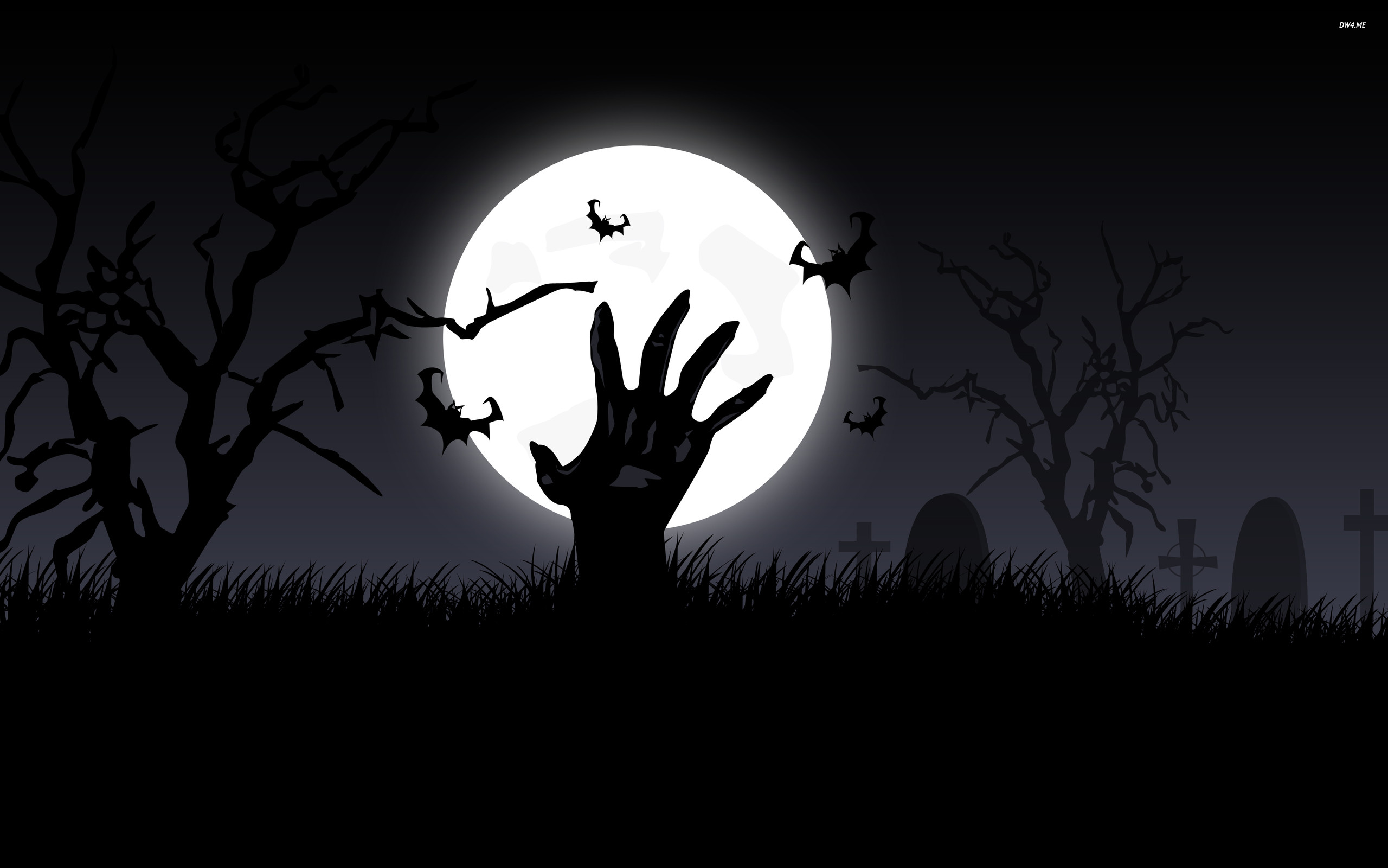 2560x1600 Zombie hand in the moonlight wallpaper - Holiday .