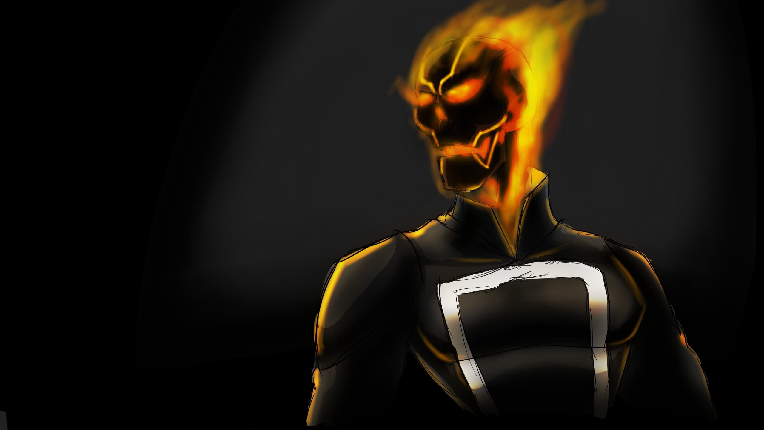 2560x1440 TV Series - Agents of Shield: Ghost Rider art