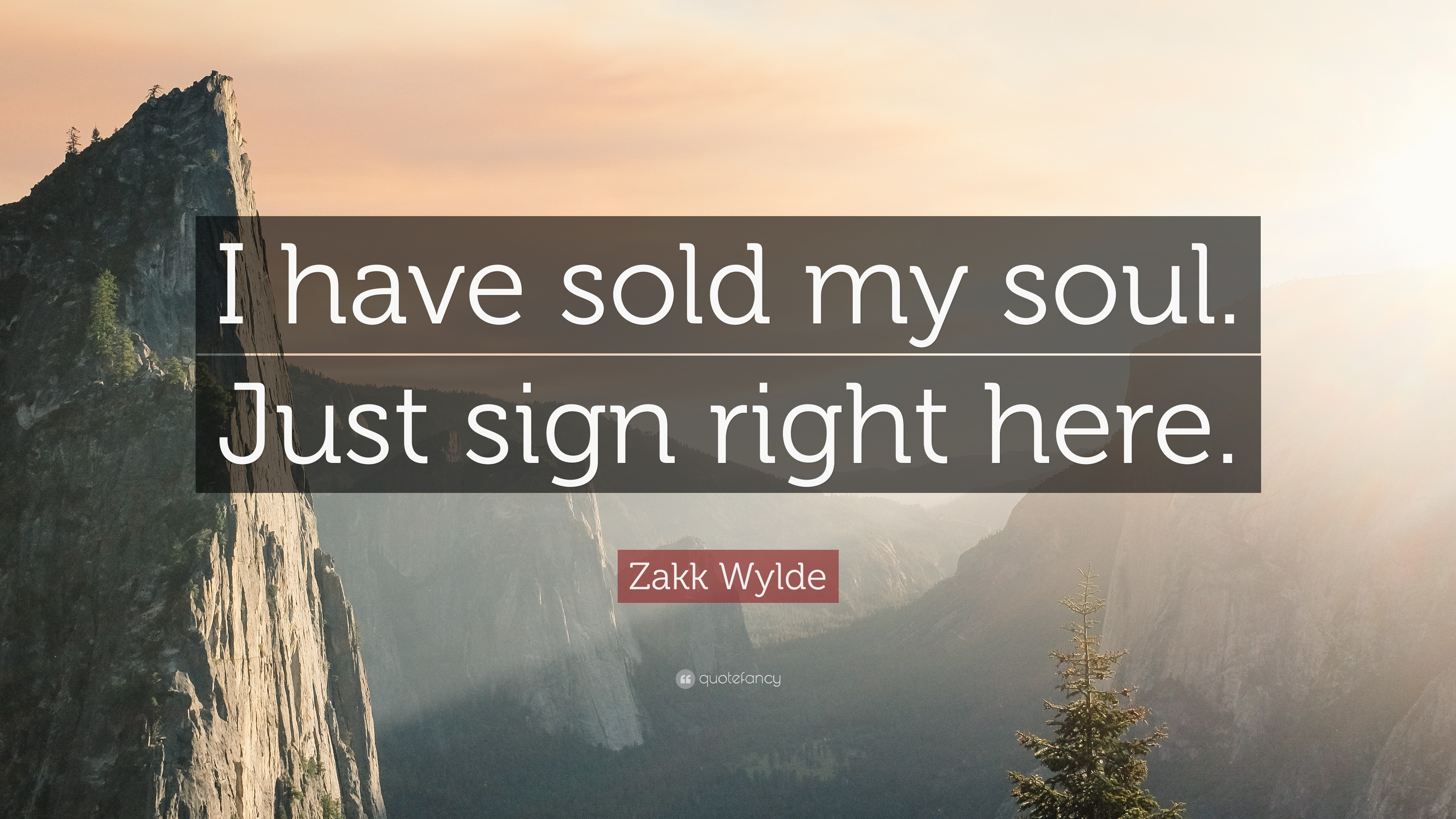 "3840x2160 Zakk Wylde Quote: ""I have sold my soul. Just sign right here."