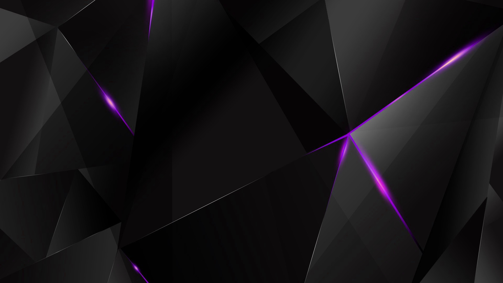 1920x1080 ... Wallpapers - Purple Abstract Polygons (Black BG) by kaminohunter