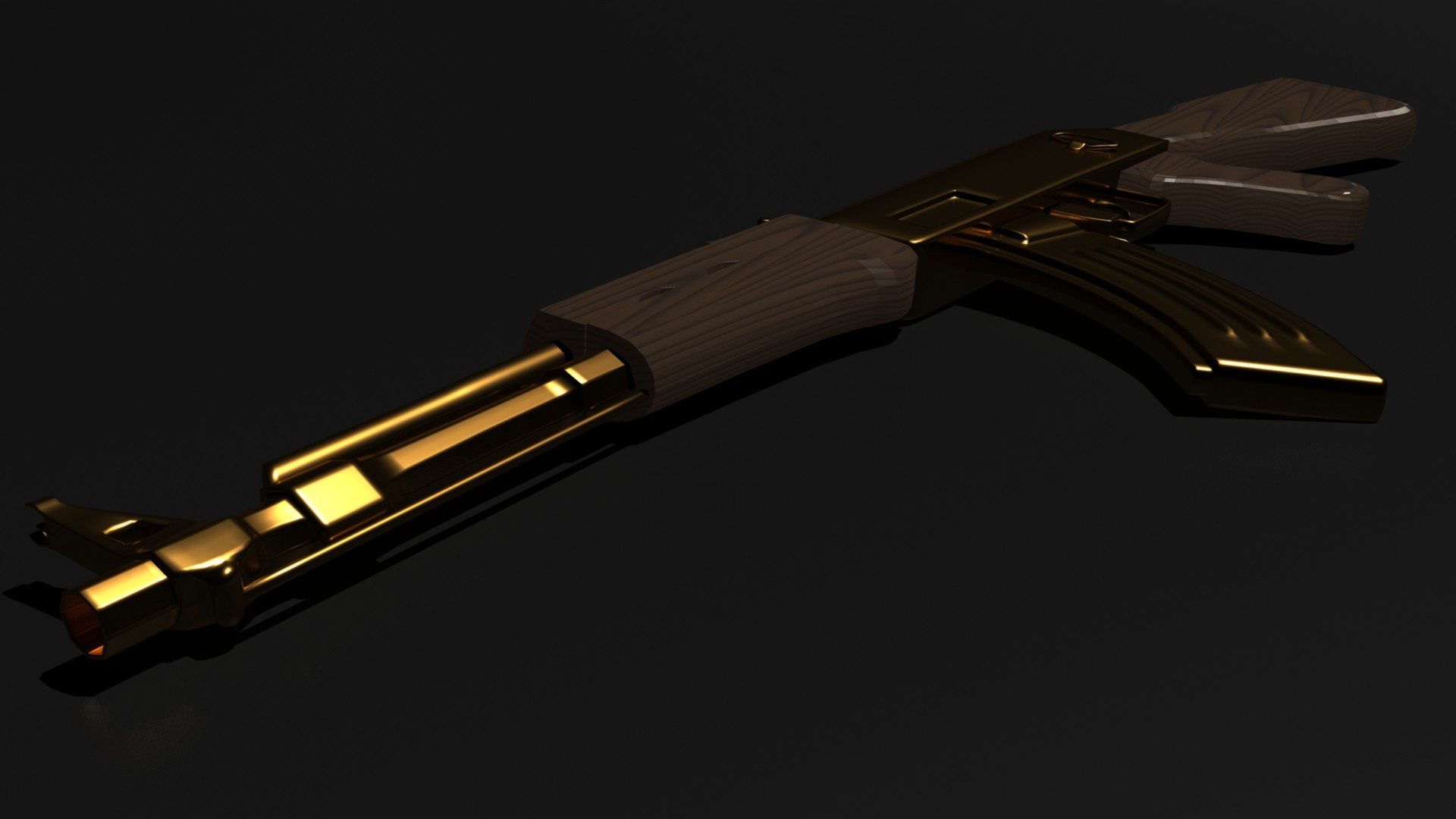 1920x1080 Gold AK 47 Wallpapers