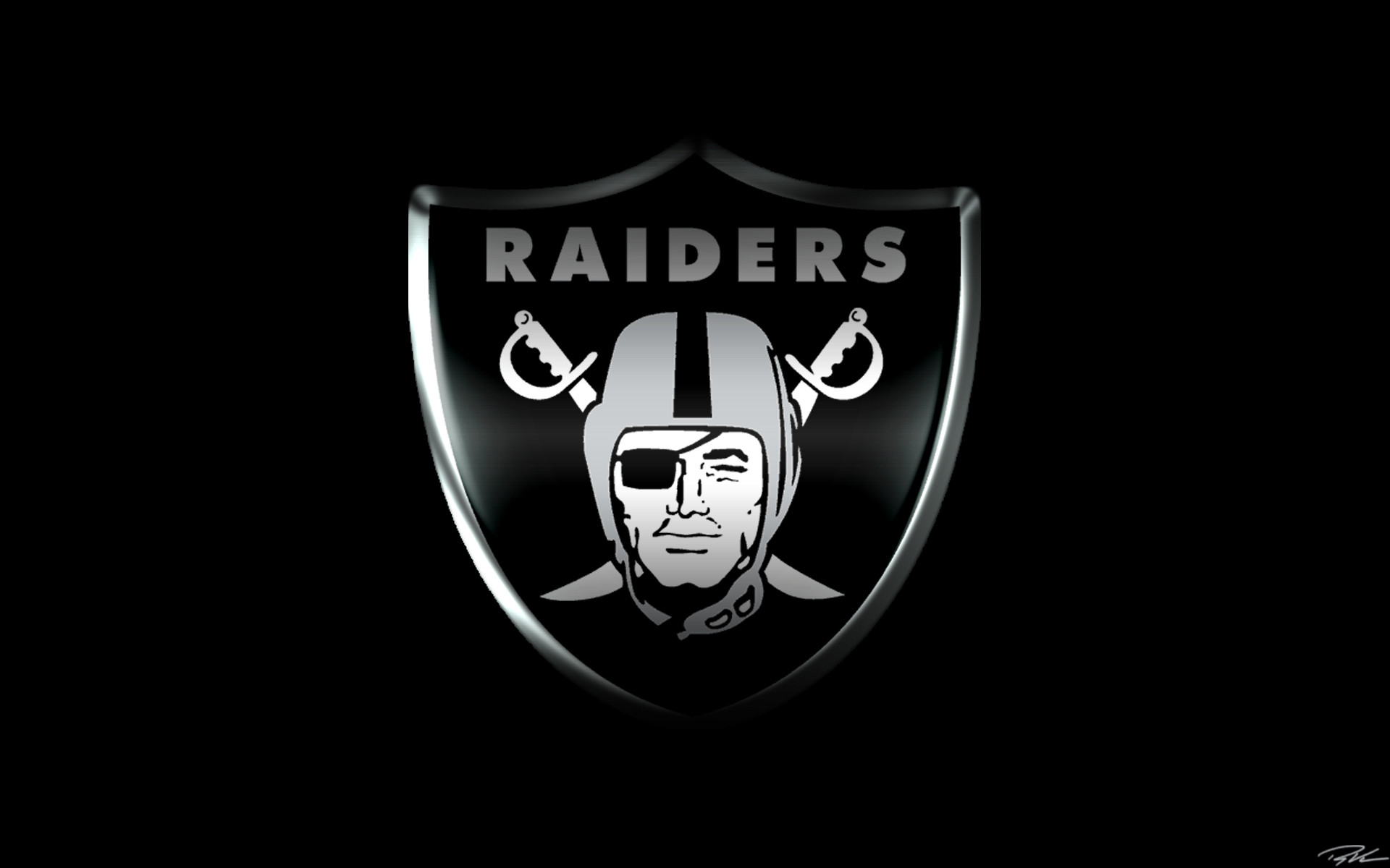 1920x1200 BLACK FOOTBALL OAKLAND RAIDERS  of-PhotoBoats.Com