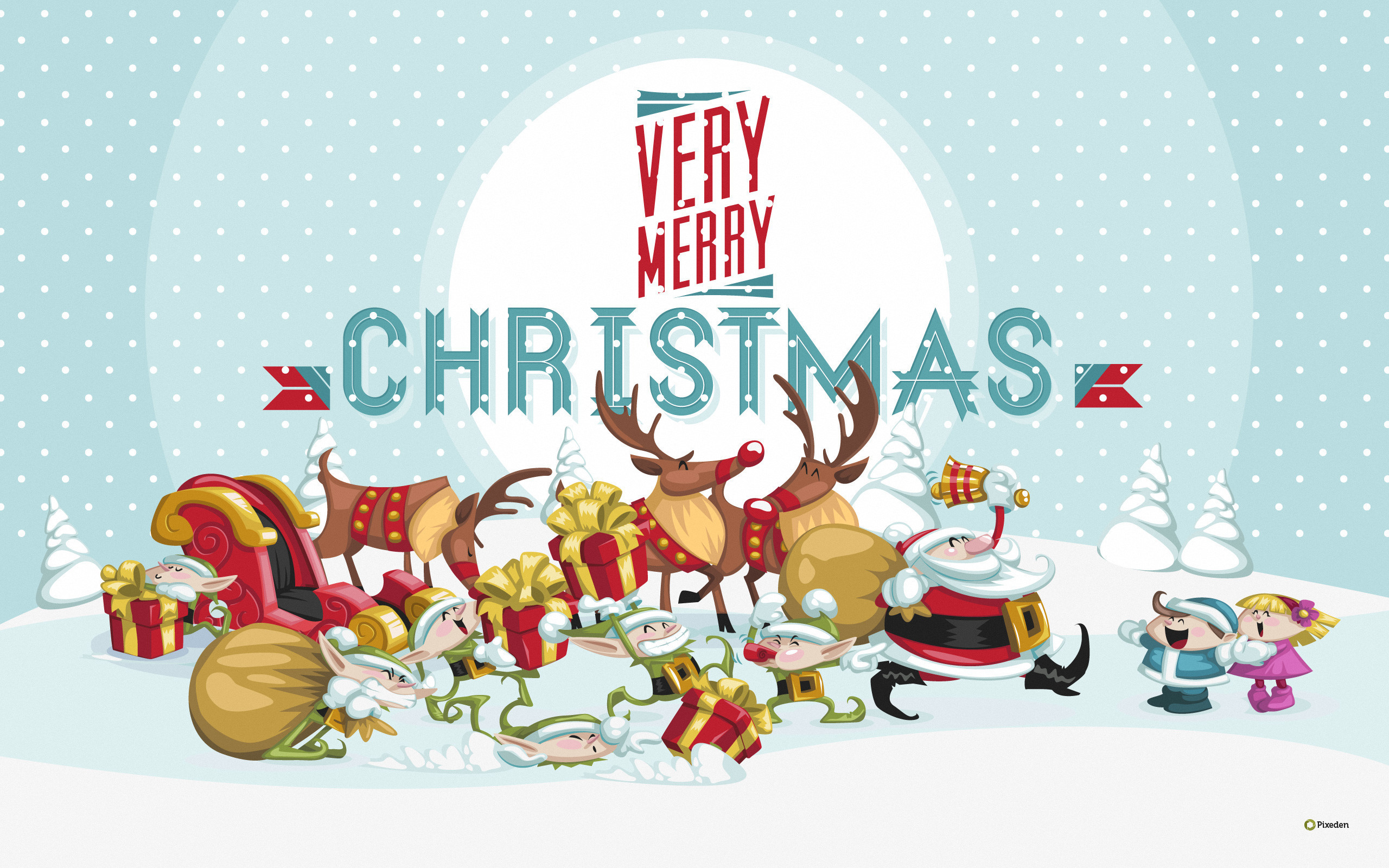 2560x1600  2017 Merry Christmas Wallpaper