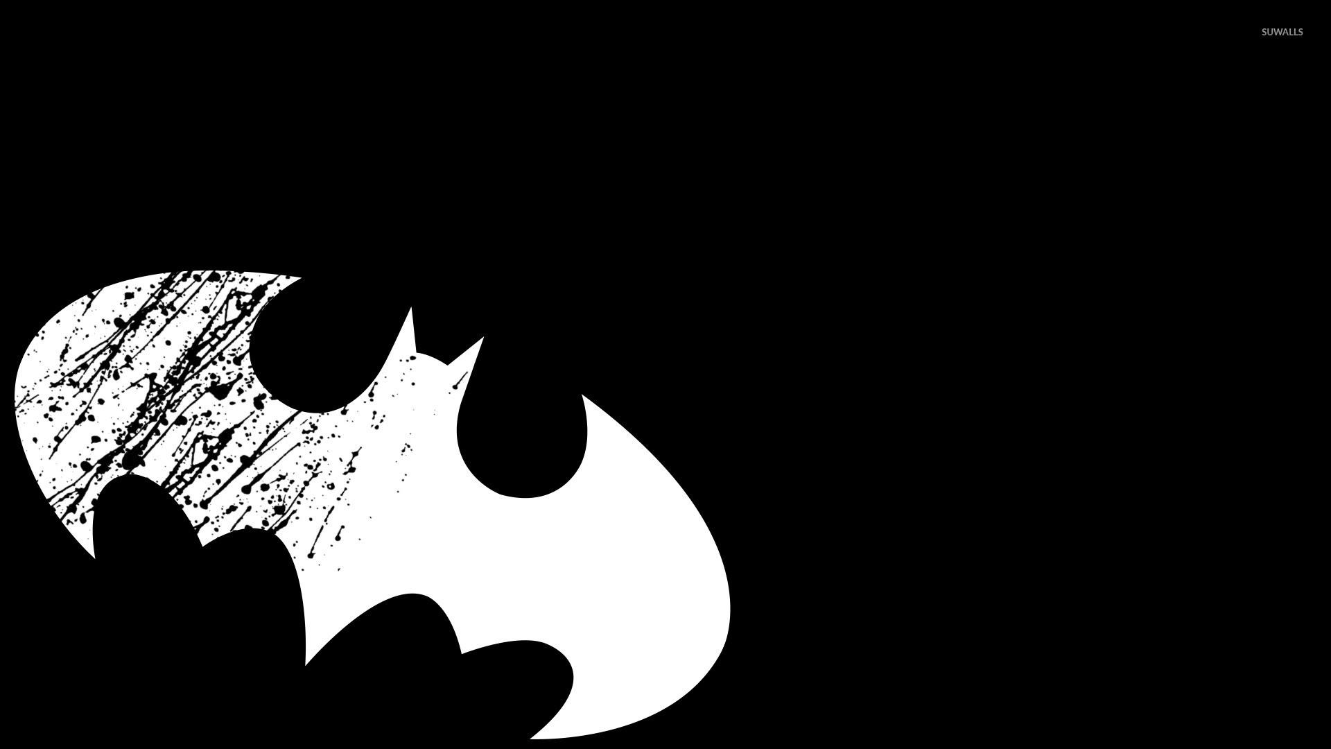 1920x1080 White Batman Logo Wallpaper