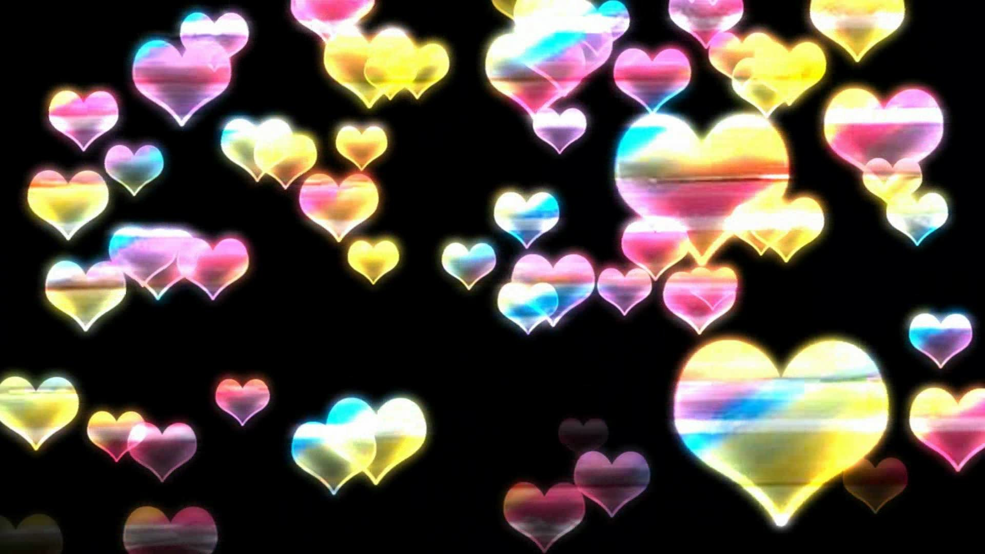 Rainbow love hearts backgrounds