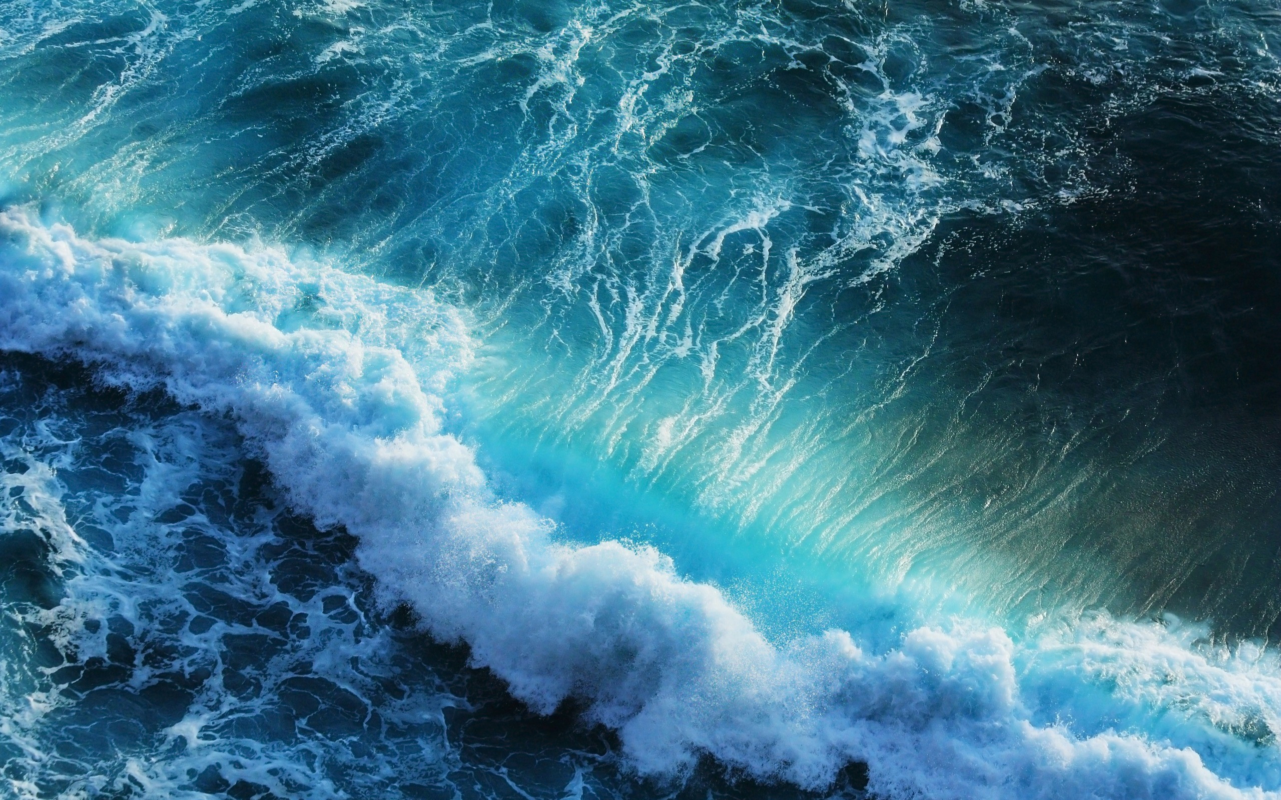 2560x1600 Ocean waves wallpaper HD.