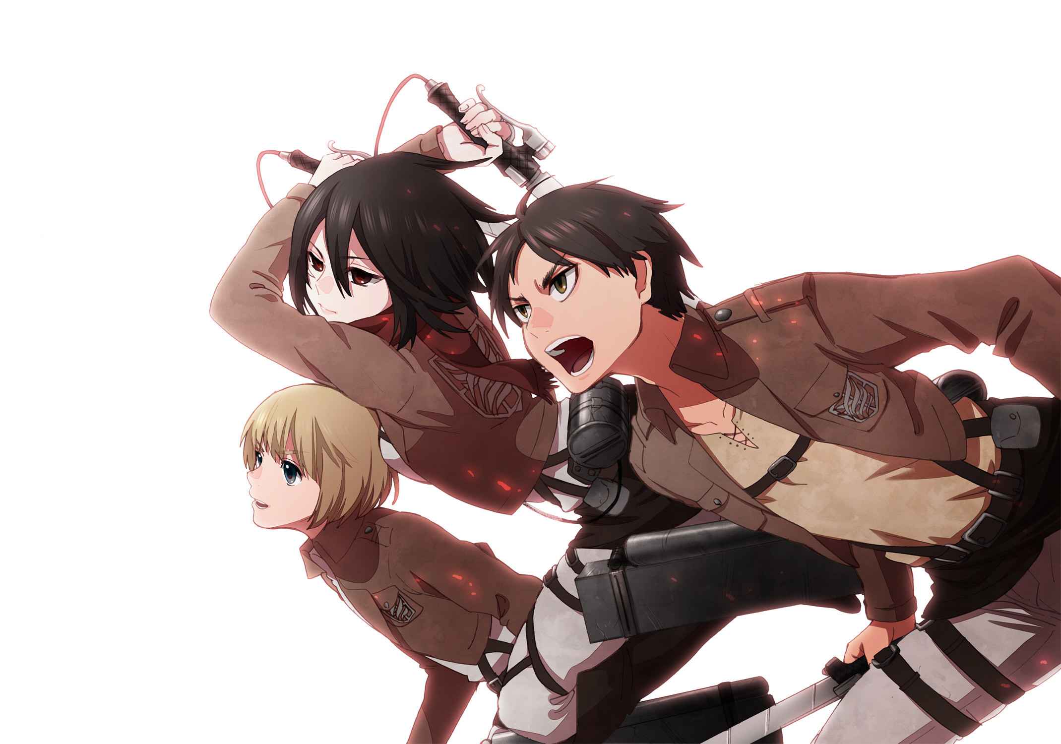 2139x1500 Attack On Titan Wallpaper Eren Mikasa Armin Anime L'Attaque Des Ti.