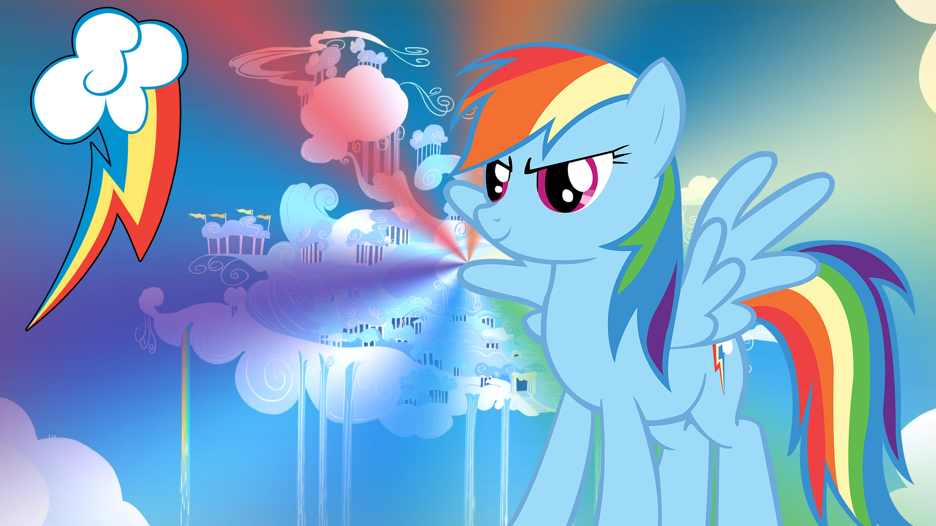 1920x1080 MLP Rainbow Dash Wallpaper | Rainbow Dash - My Little Pony Wallpaper FullHD  by mwerec