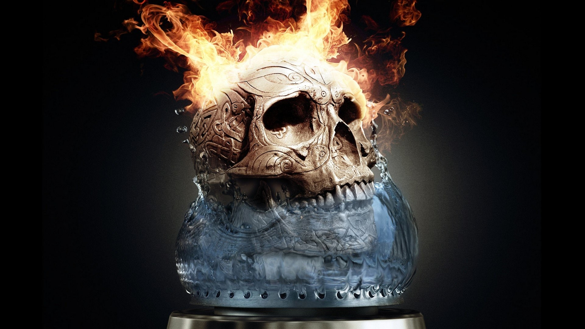 Skull Fire Wallpaper 61 Images