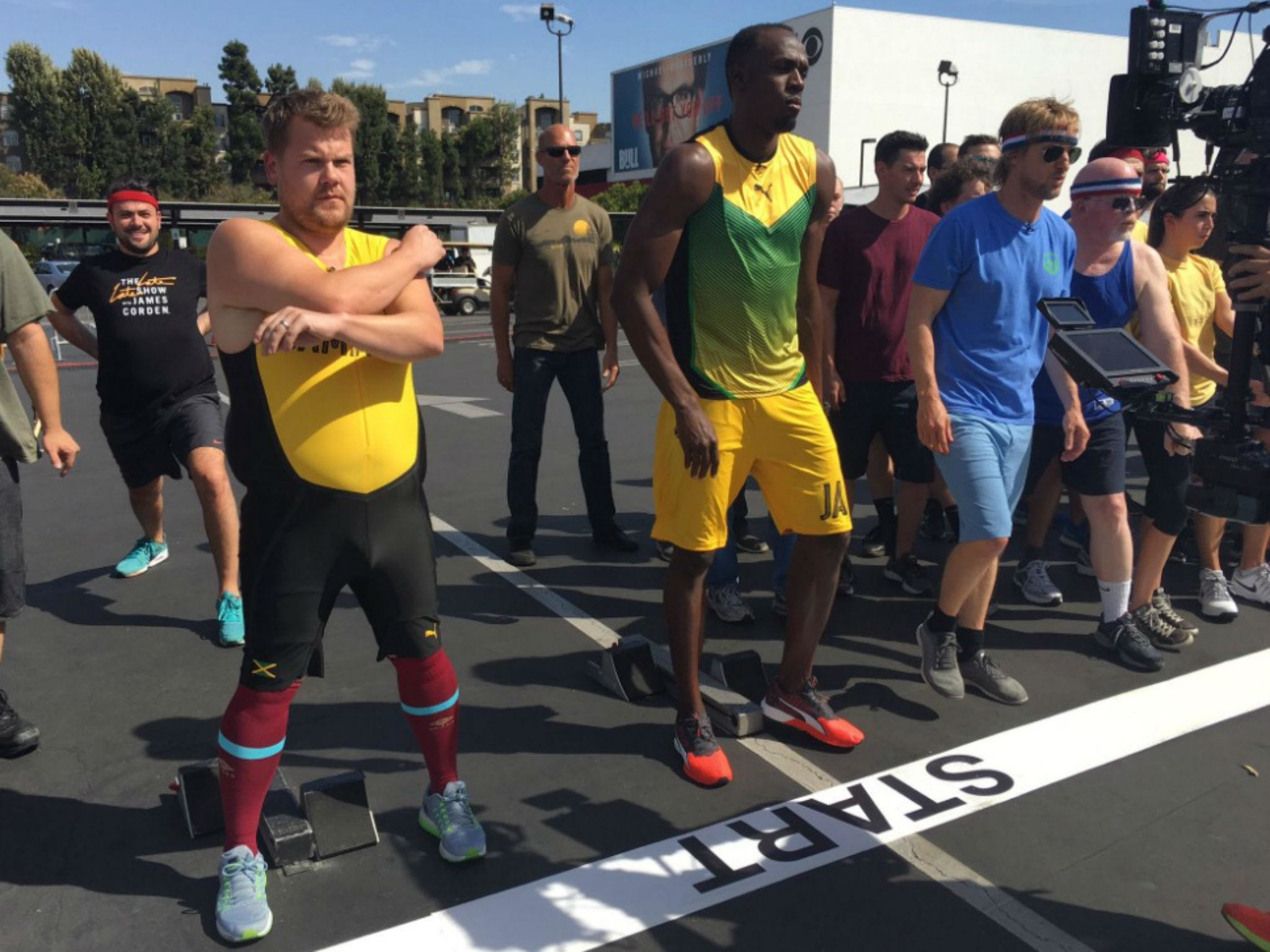 2048x1536 James Corden challenged Usain Bolt to a 100m race on the Late Late Show -  watch | The Independent