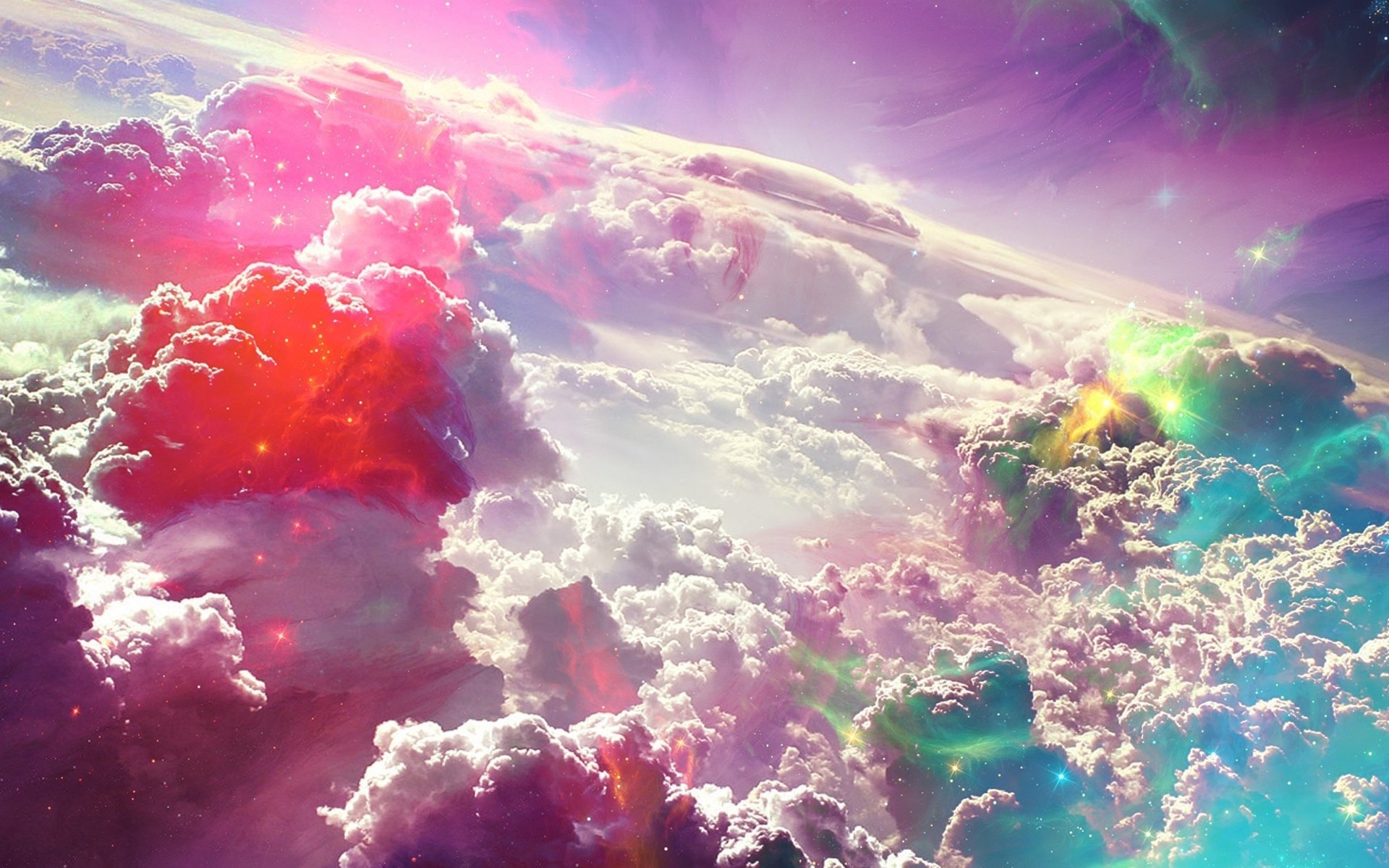 1920x1200 Colorful Fantasy Clouds Art HD Wallpaper