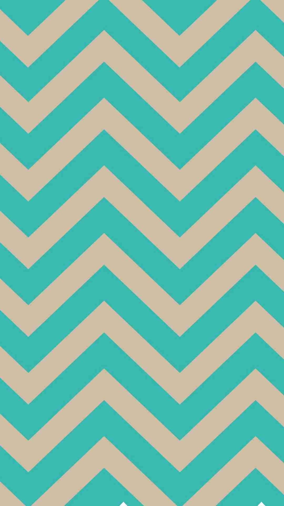 1080x1920 Turquoise Blue and Ivory Chevron iPhone 6 Plus Wallpaper - Classic Colors,  Zigzag Pattern