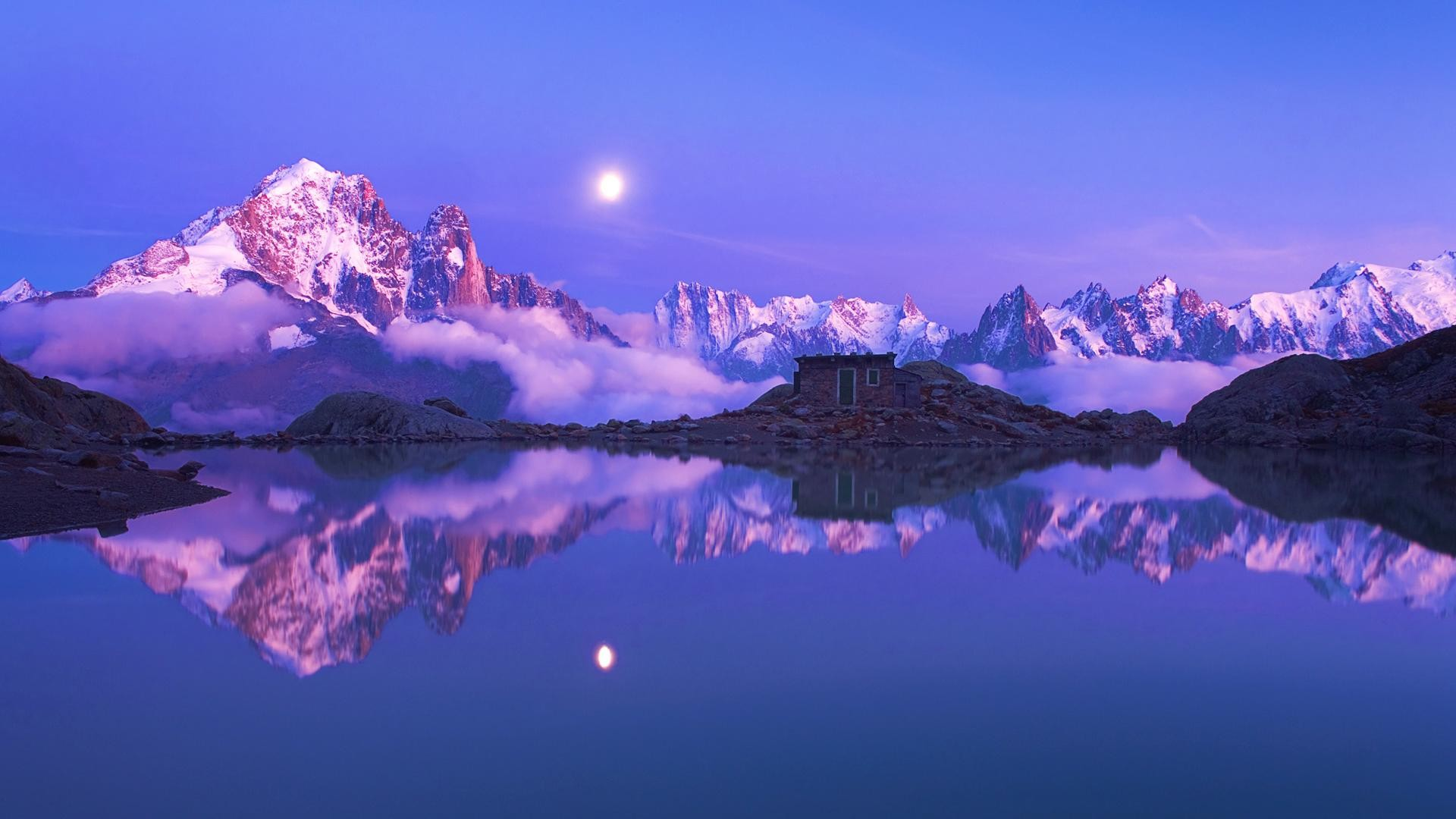 1920x1080  Beautiful Snow mountain reflection desktop wide wallpapers:1280x800,1440x900,1680x1050  - hd