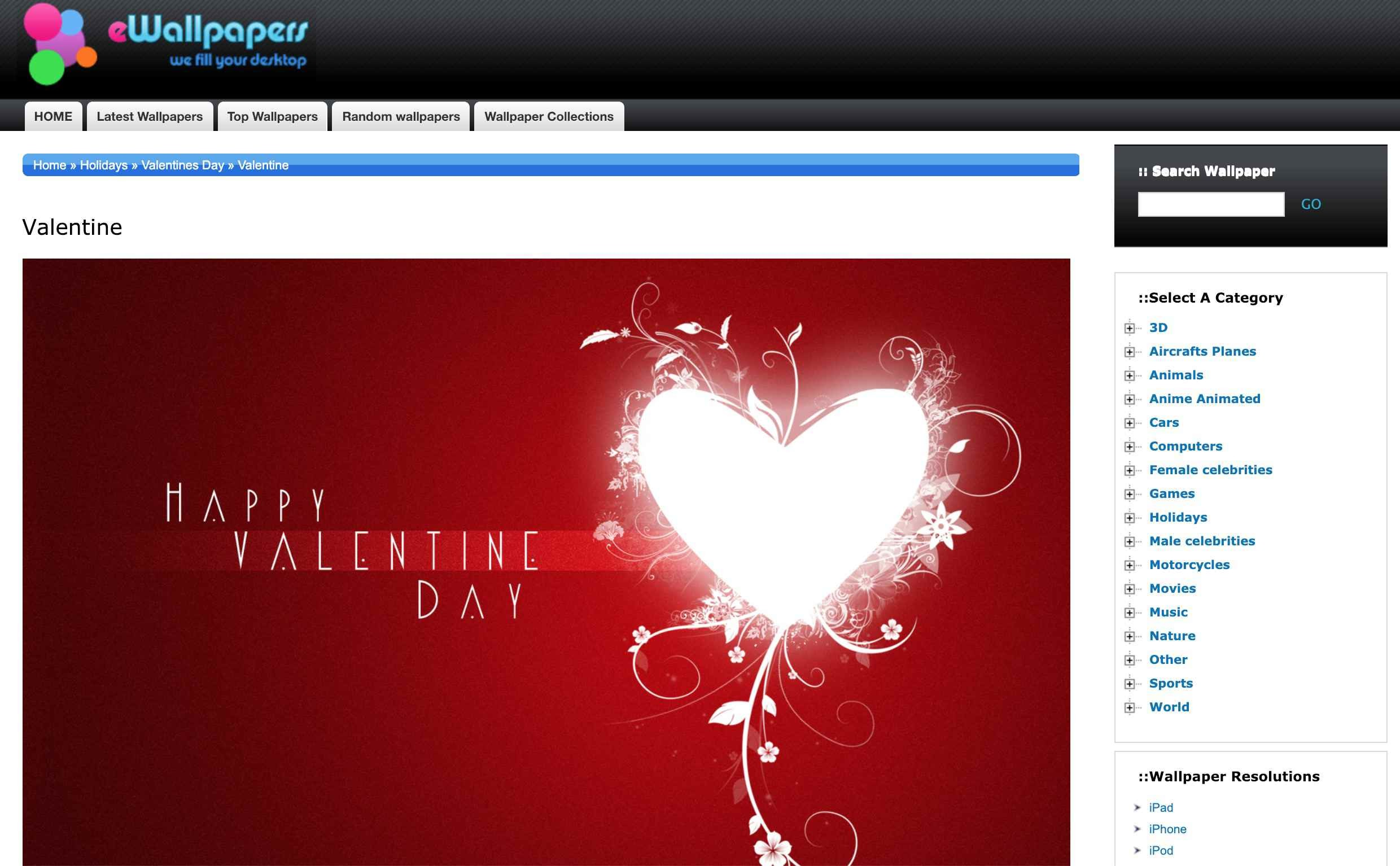 2480x1534 Happy Valentine's Day by eWallpapers