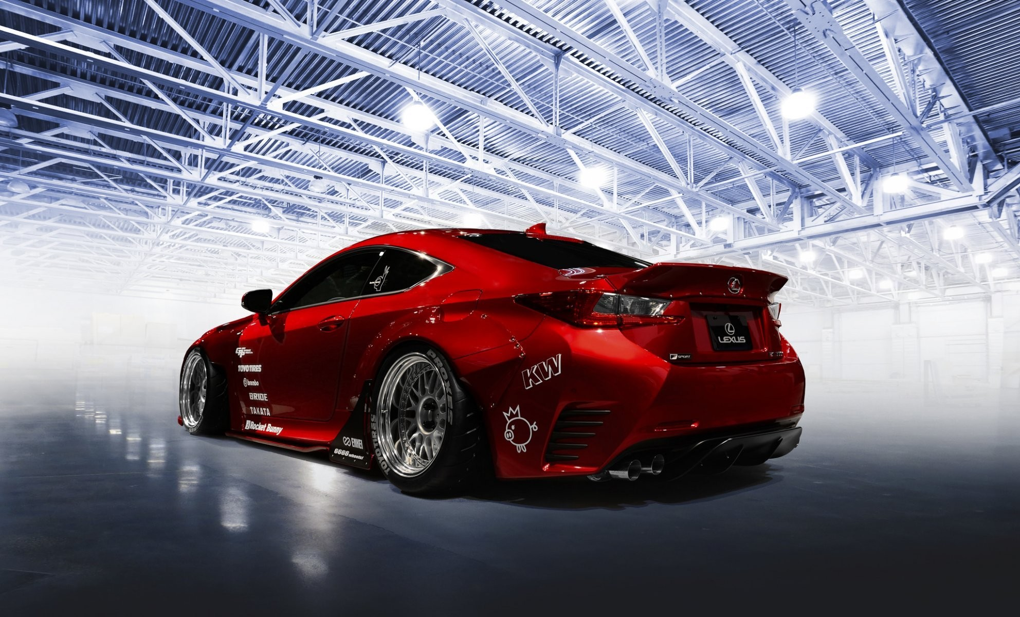 1984x1200 lexus rc-f tuning rocket bunny red car
