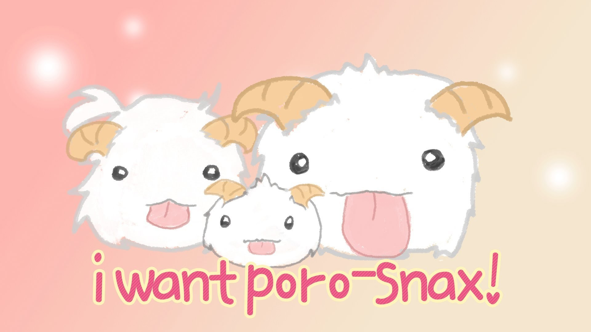 1920x1080 I Want Poro-Snax [Dango Daikazoku Parody] | League of Legends