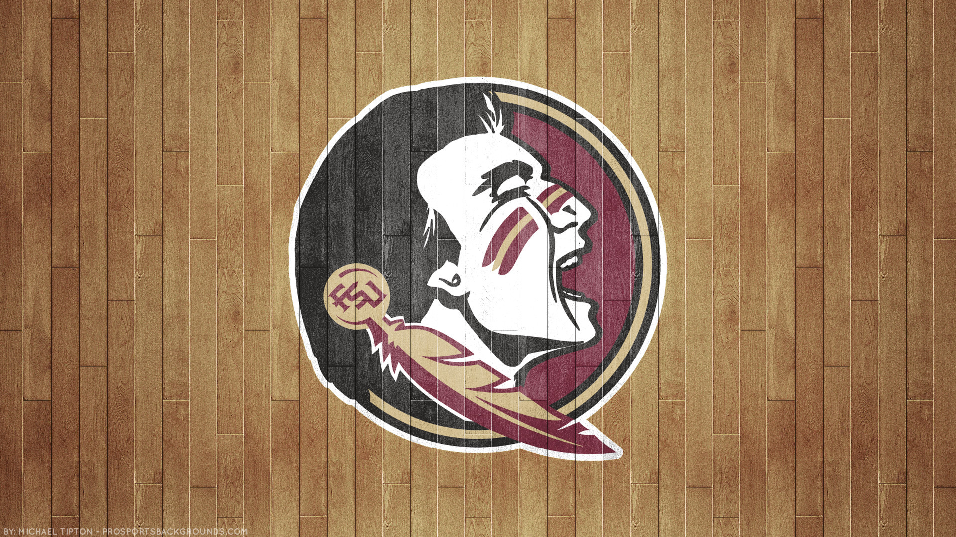 1920x1080 Florida State Seminoles 2018 ncaa basketball team logo hardwood wallpaper  free for