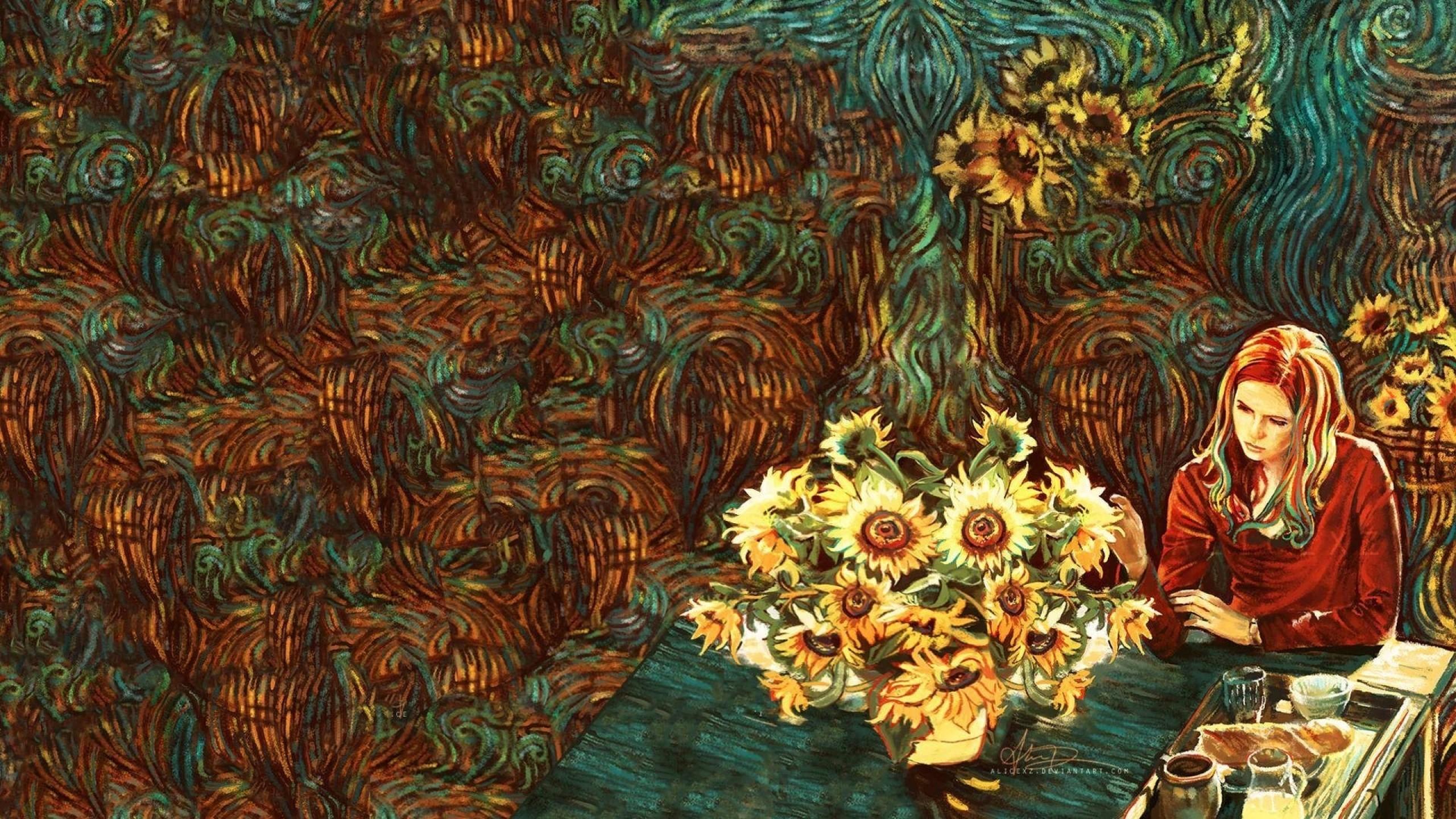 1920x1200 Vincent Van Gogh Wallpaper, Still Life Vase With Fourteen Sunflowers Vincent Van Gogh 1200x1920