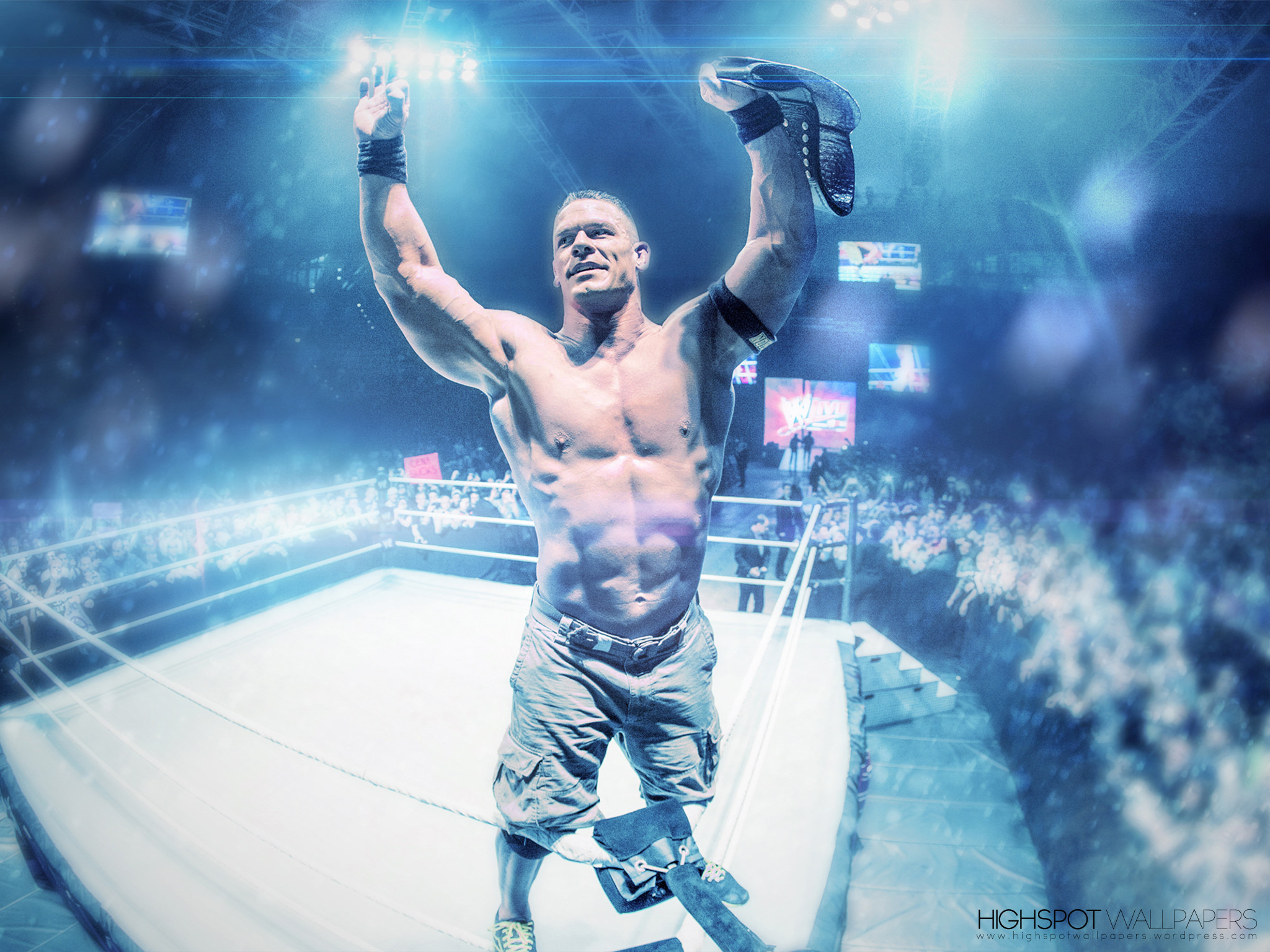 2048x1536 John Cena Vibrant Series Wallpaper