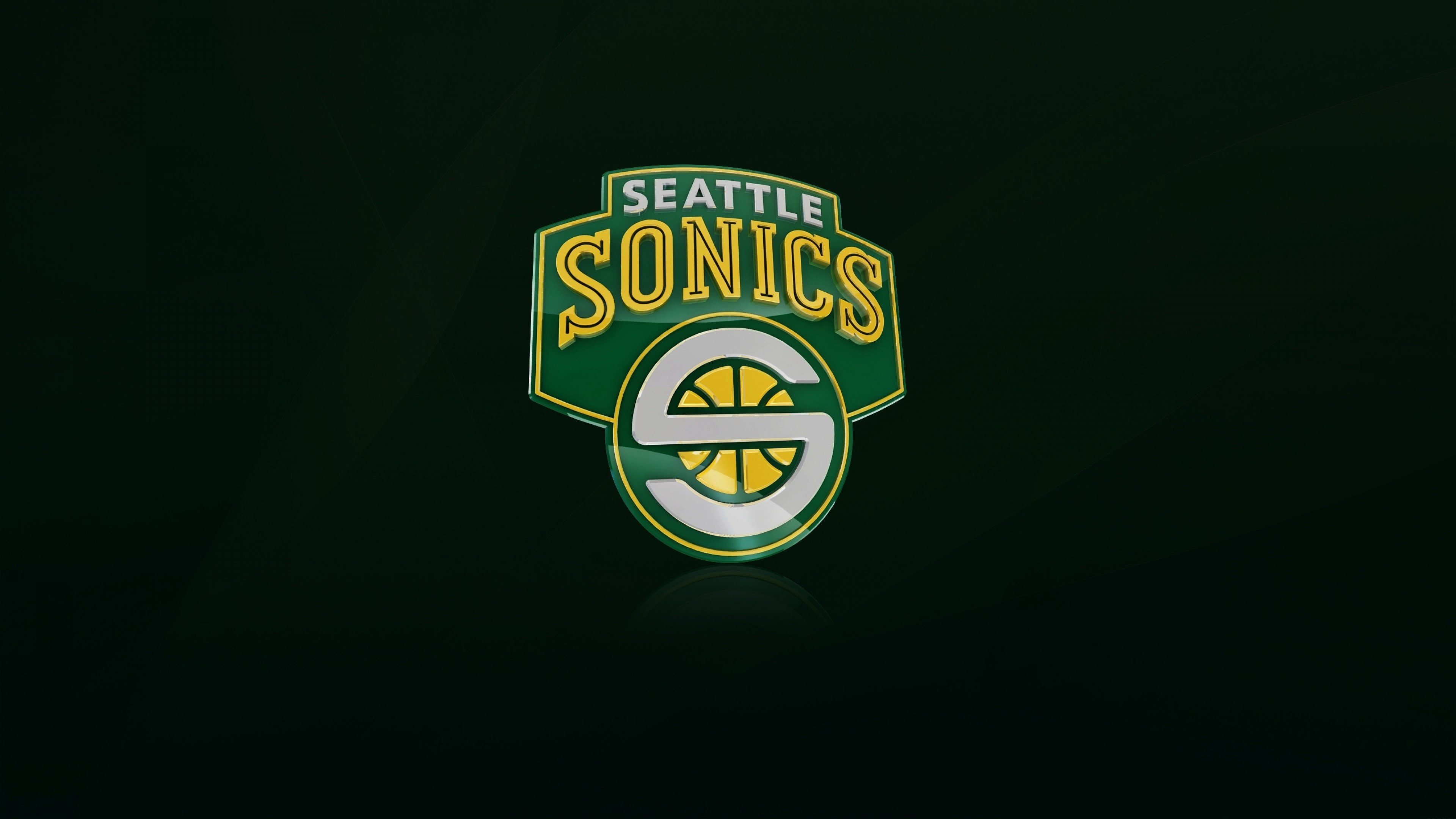 3840x2160 Preview wallpaper seattle supersonics, nba, logo