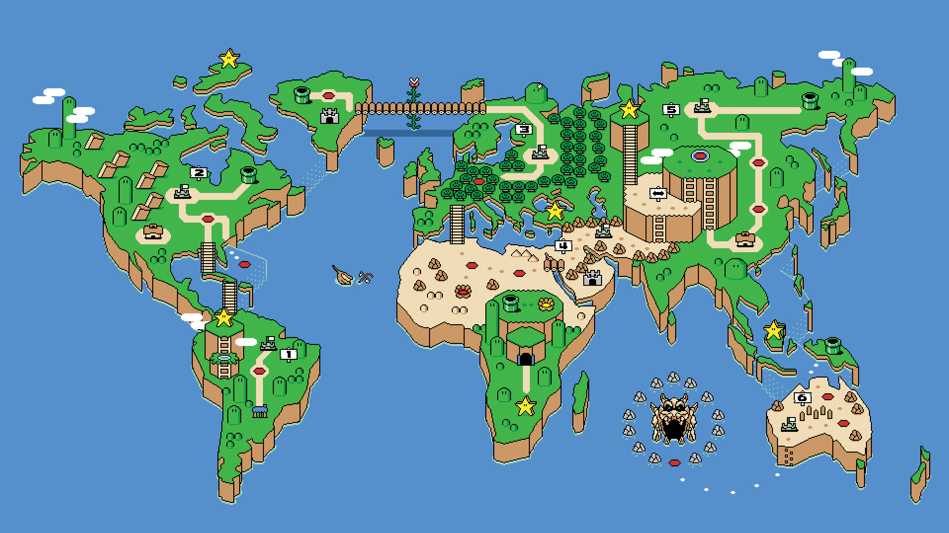 1920x1080 23 Super Mario World Wallpapers | Super Mario World Backgrounds