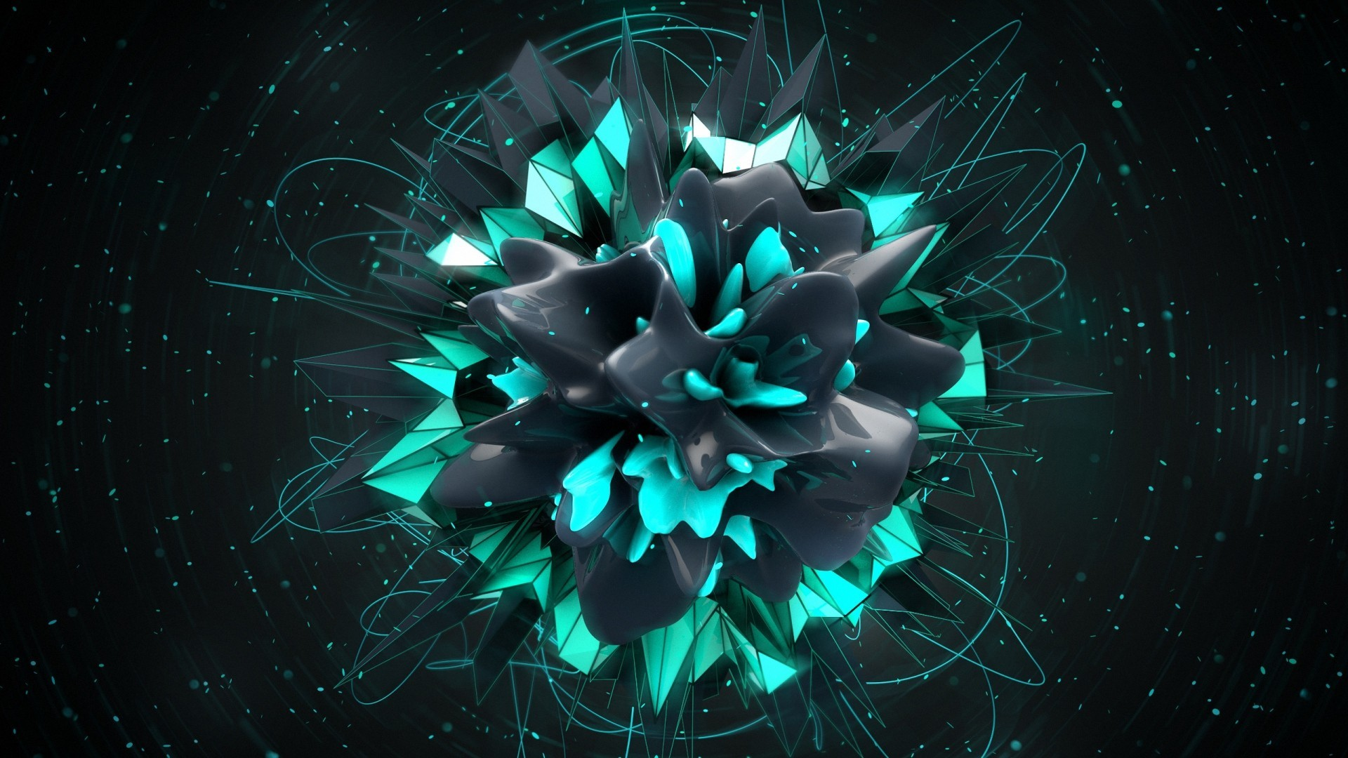 1920x1080 abstract, Digital Art, Shapes, 3D Wallpapers HD / Desktop and Mobile  Backgrounds
