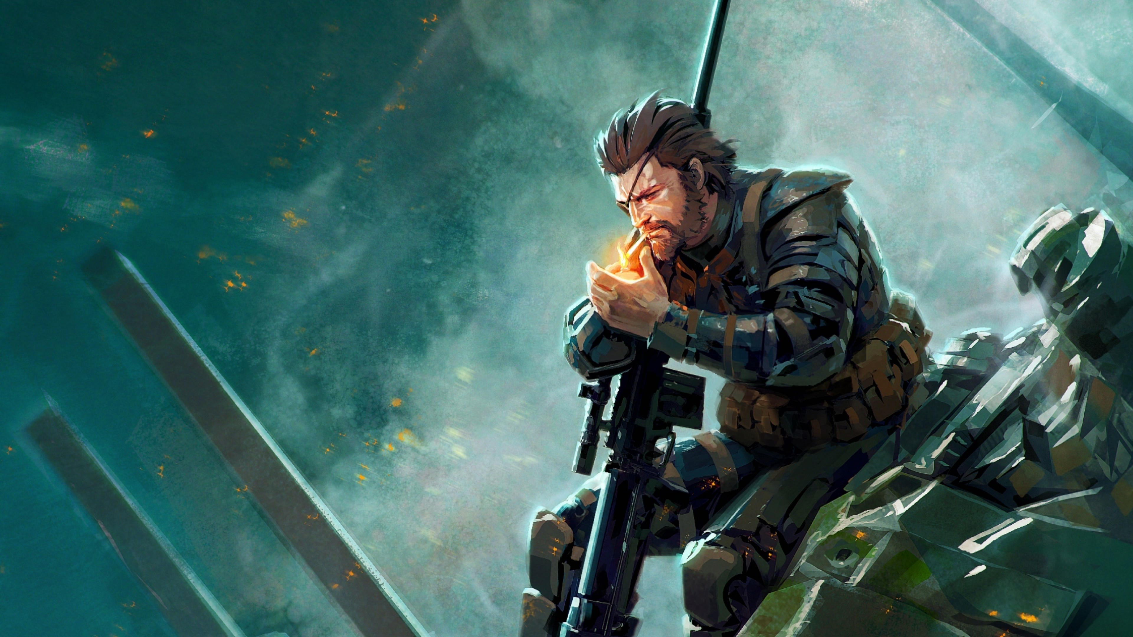 3840x2160 Preview wallpaper hideo kozhim, metal gear solid v, tae phantom pine
