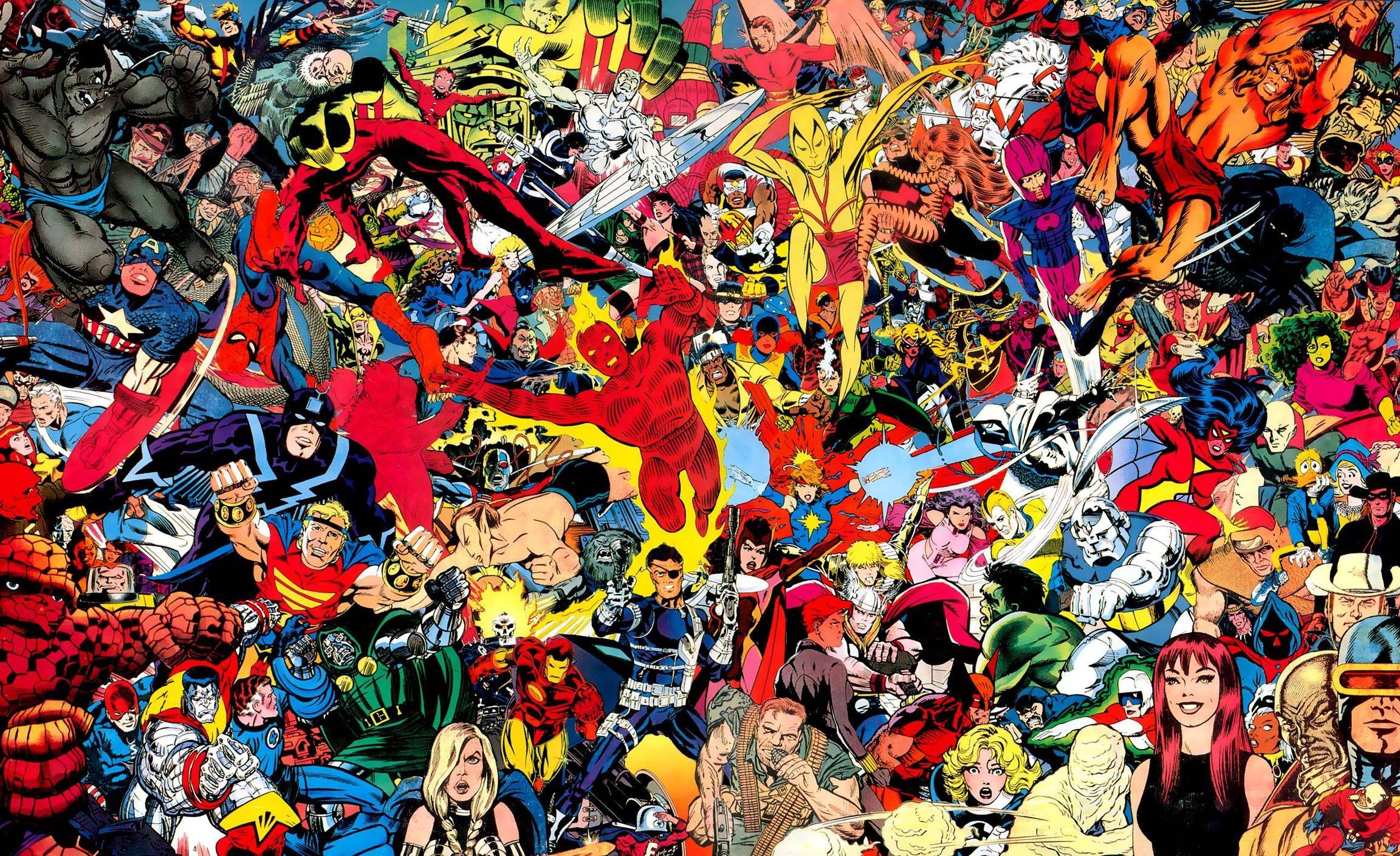 2304x1408 Classic Marvel Comics Wallpaper Images