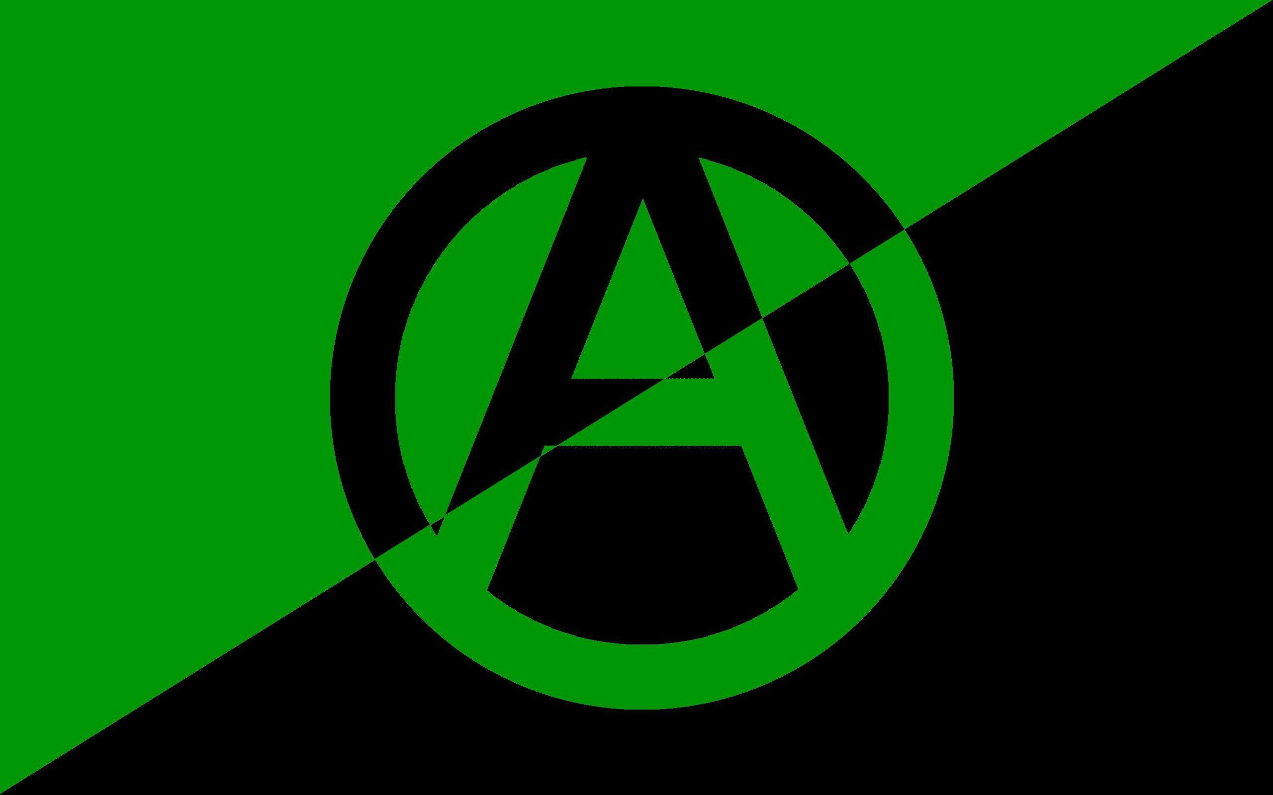 2560x1600 Green Anarchist Emblem by beebo004 on DeviantArt