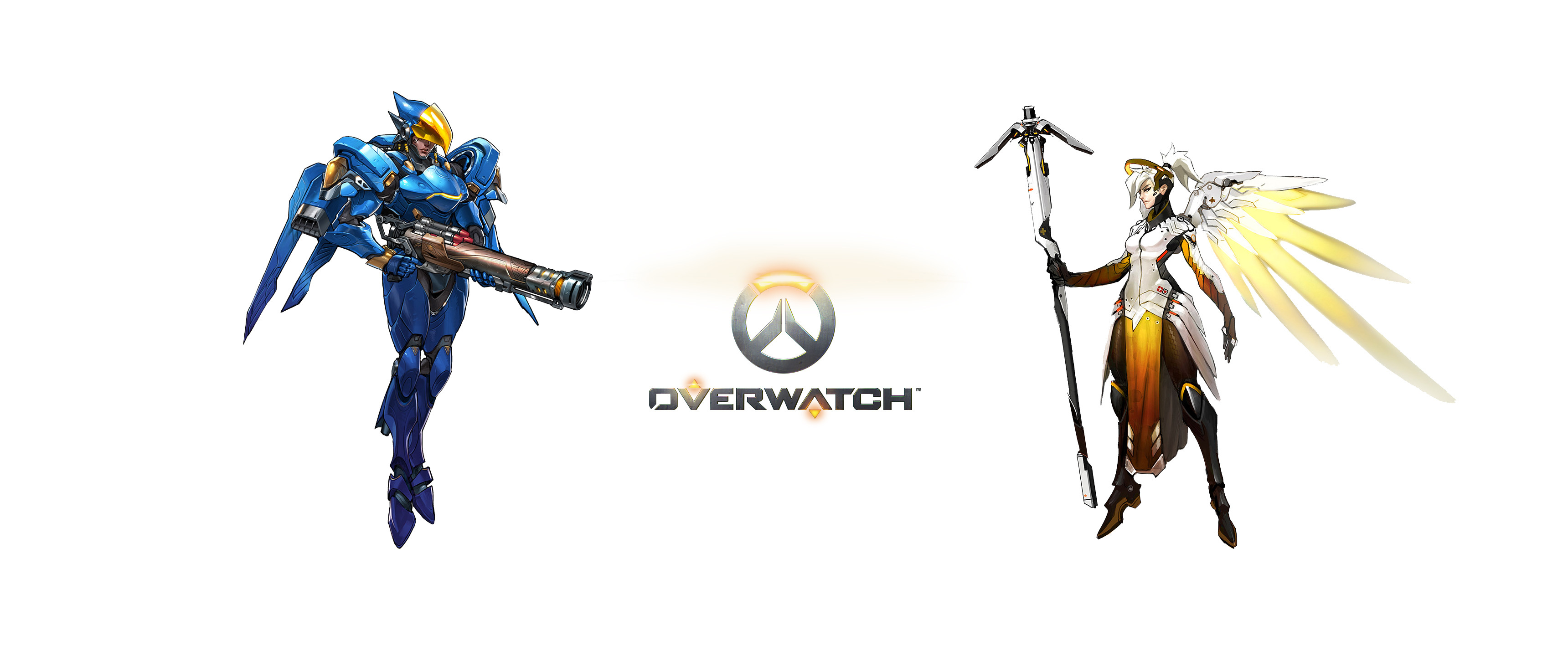 3440x1440 Video Game - Overwatch Pharah (Overwatch) Mercy (Overwatch) Bakgrund