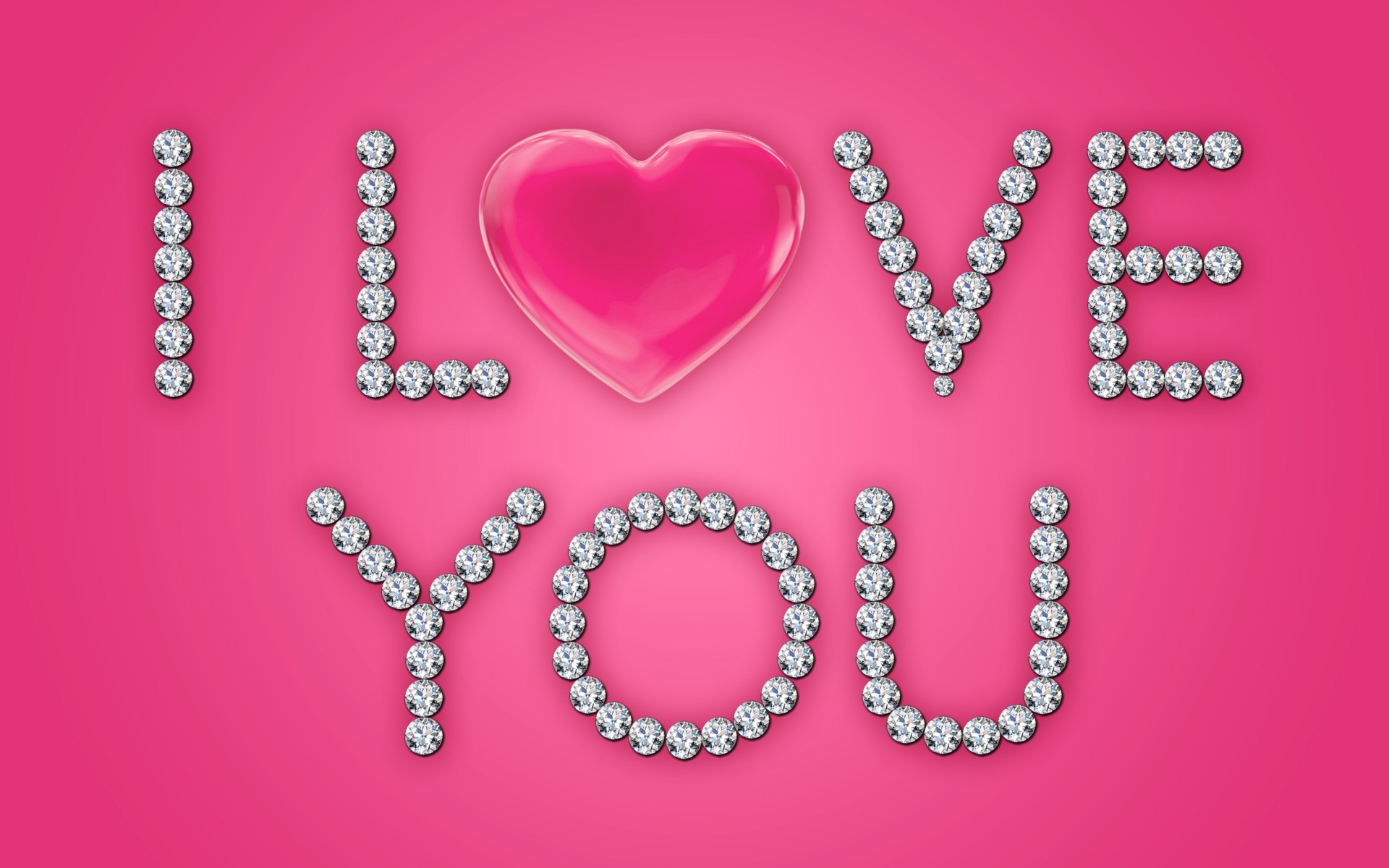 1920x1200 I Love You Diamonds Pink Heart wallpapers and stock photos
