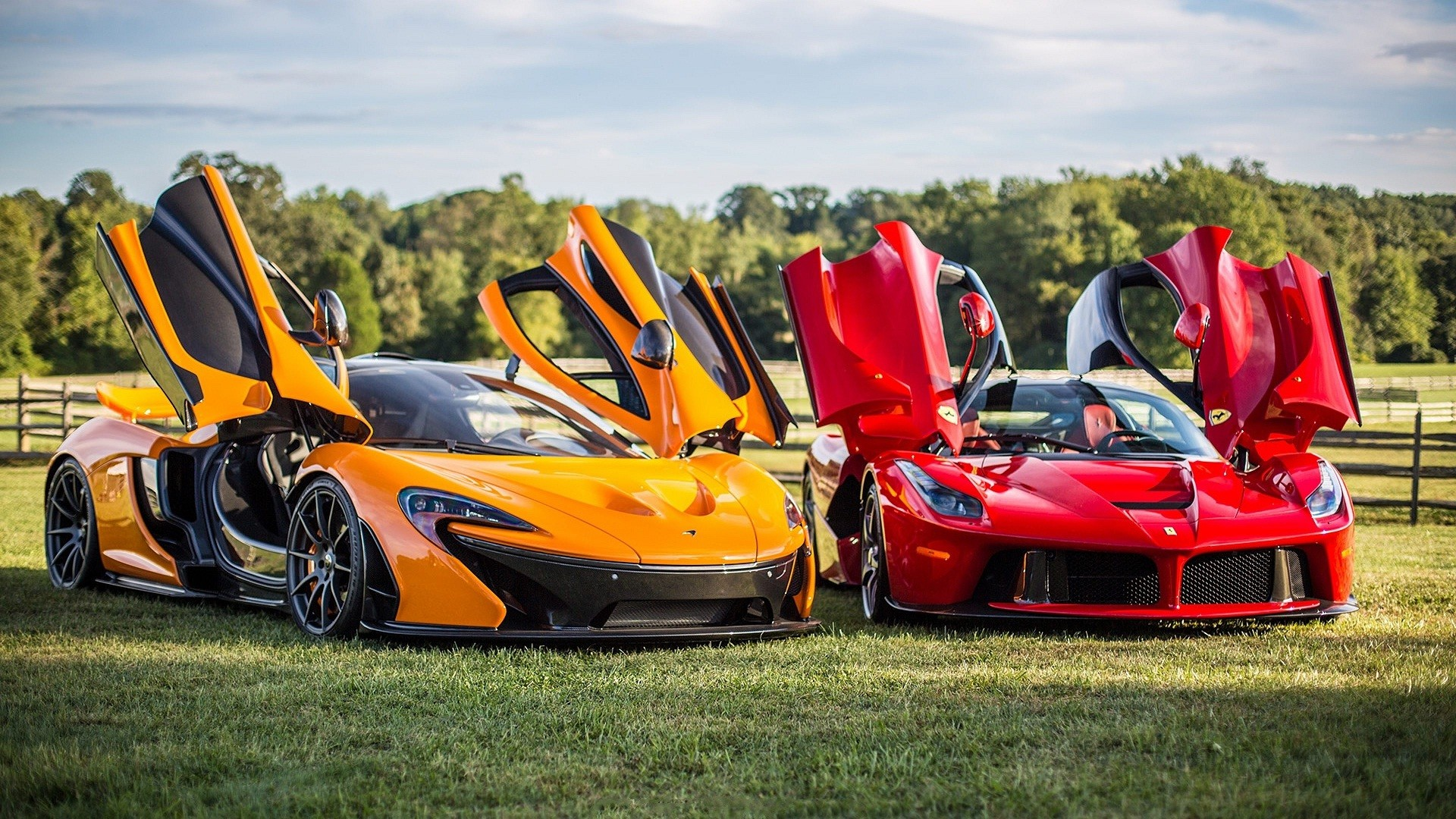 1920x1080 McLaren red and orange sports car wallpapers