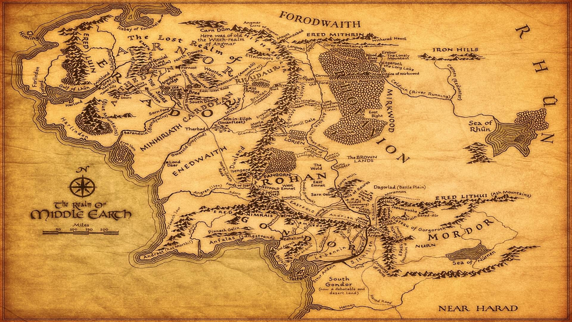 Middle Earth Map Wallpaper (48+ images)