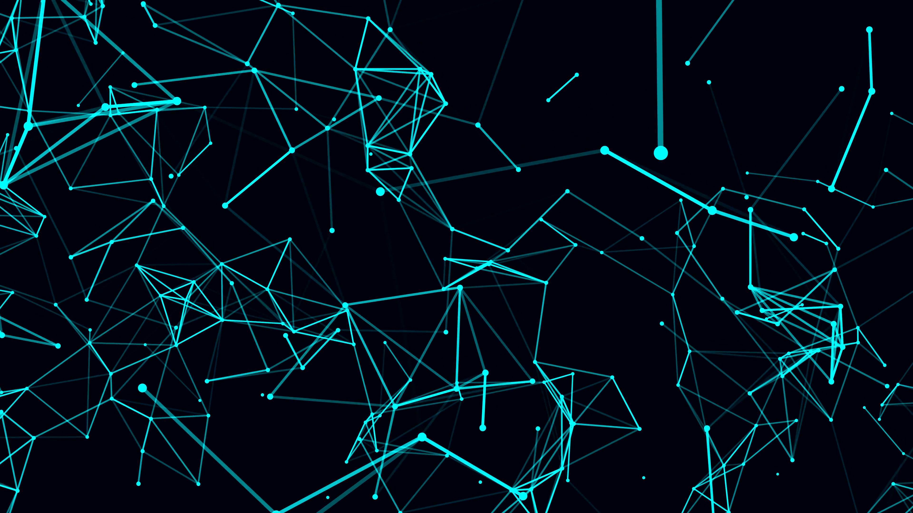 3840x2160 Futuristic technology background. loop abstract line and polygon animation.  4k
