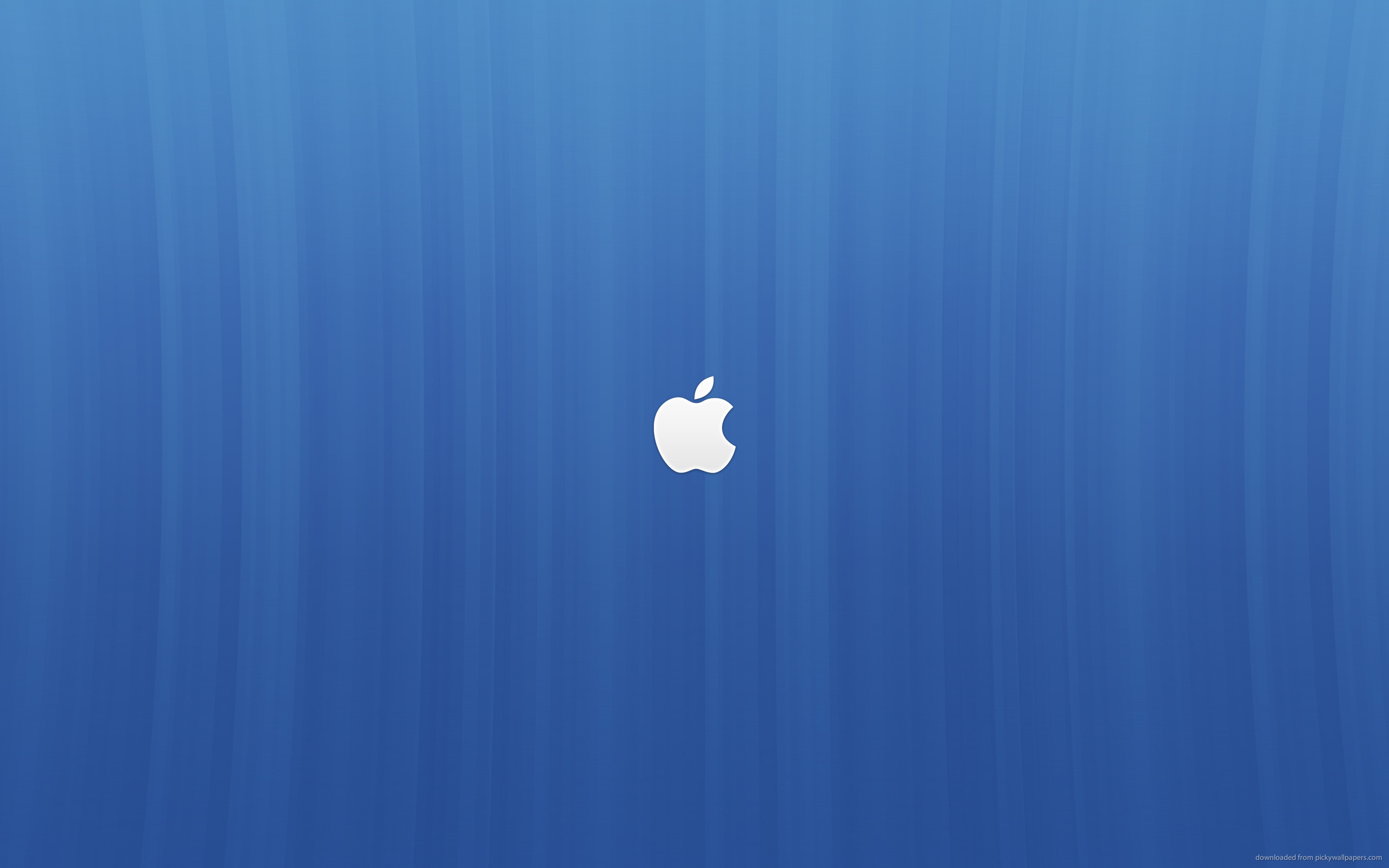 2560x1600 Apple logo on a blue background for