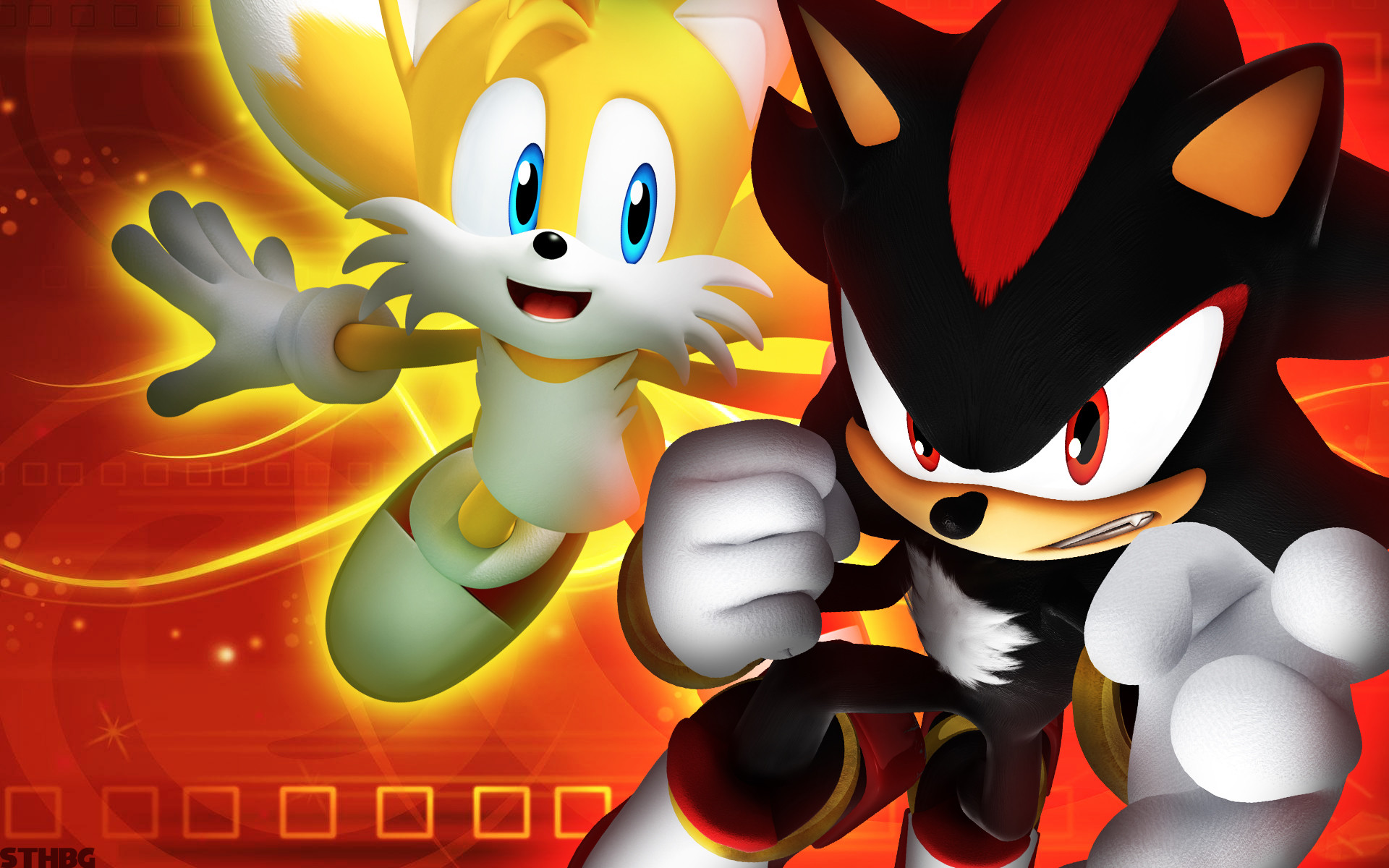 1920x1200 ... SonicTheHedgehogBG Shadow And Tails - Wallpaper by SonicTheHedgehogBG