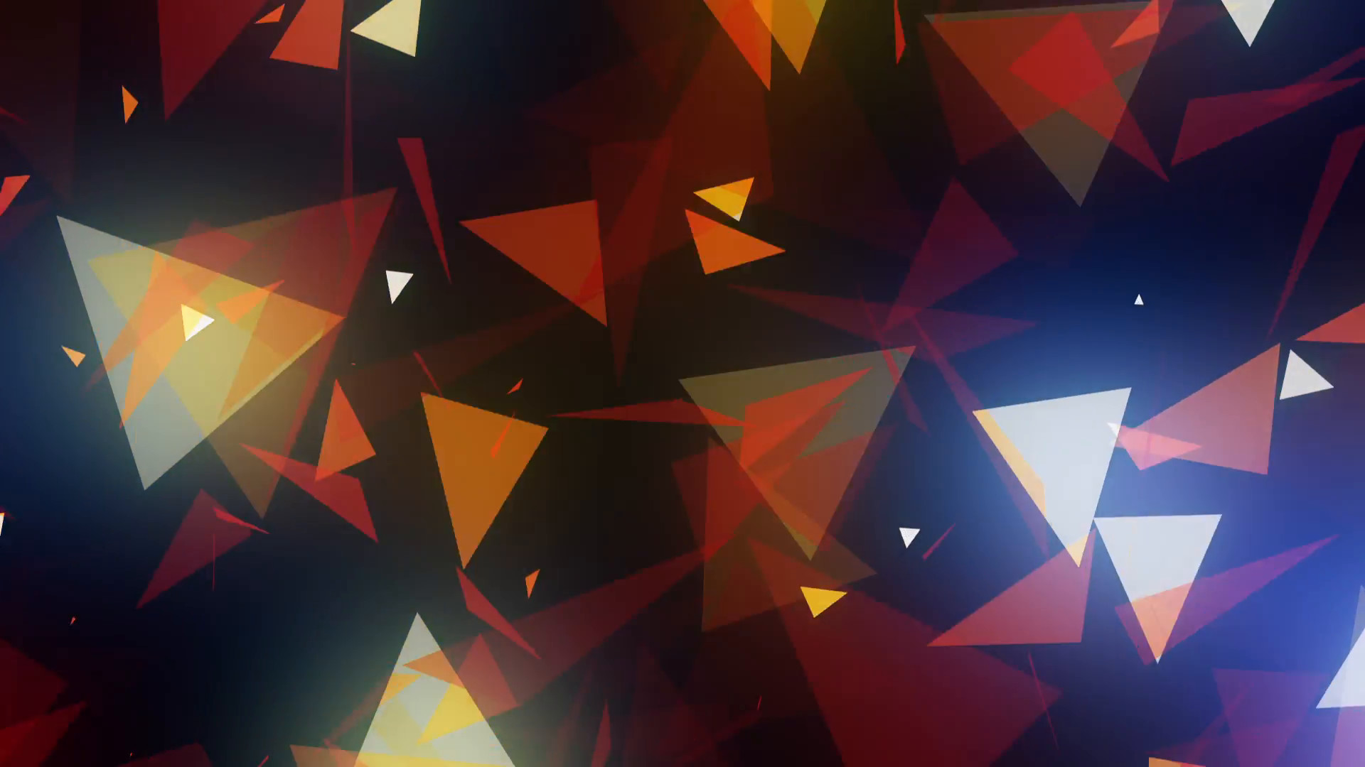 1920x1080 Glowing Multicolored Spinning Triangles Psychedelic Background VJ Loop