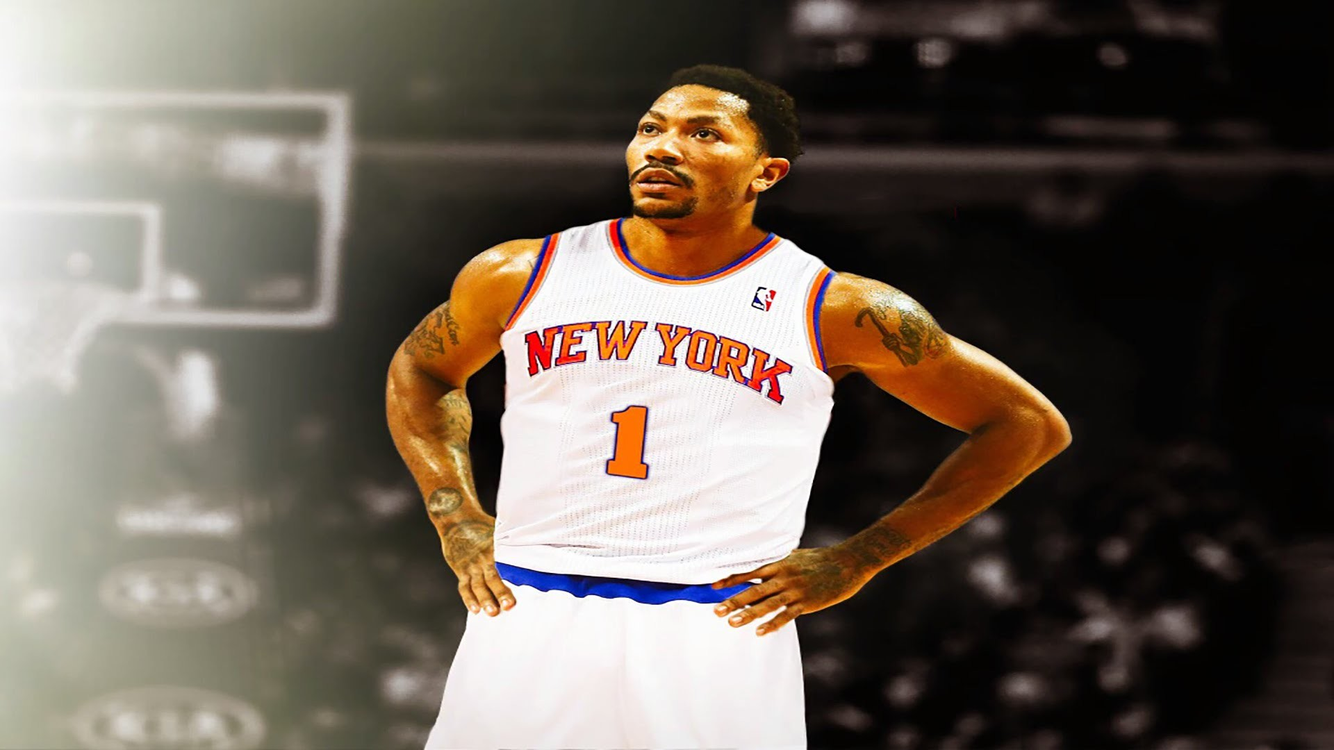 1920x1080 DERRICK ROSE AU NEW YORK KNICKS !!