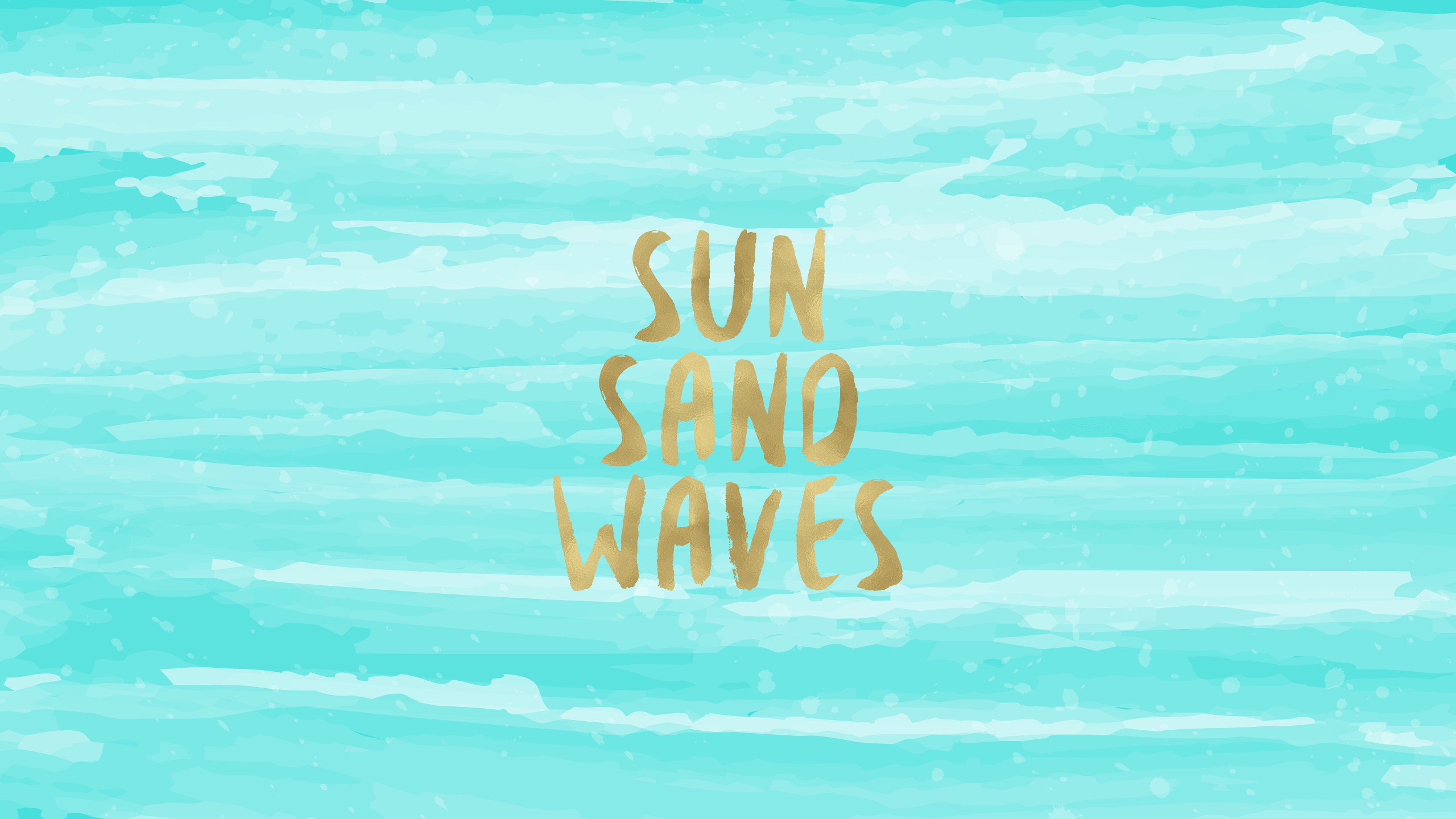 2560x1440 Sun Sand Waves Free Desktop Wallpaper
