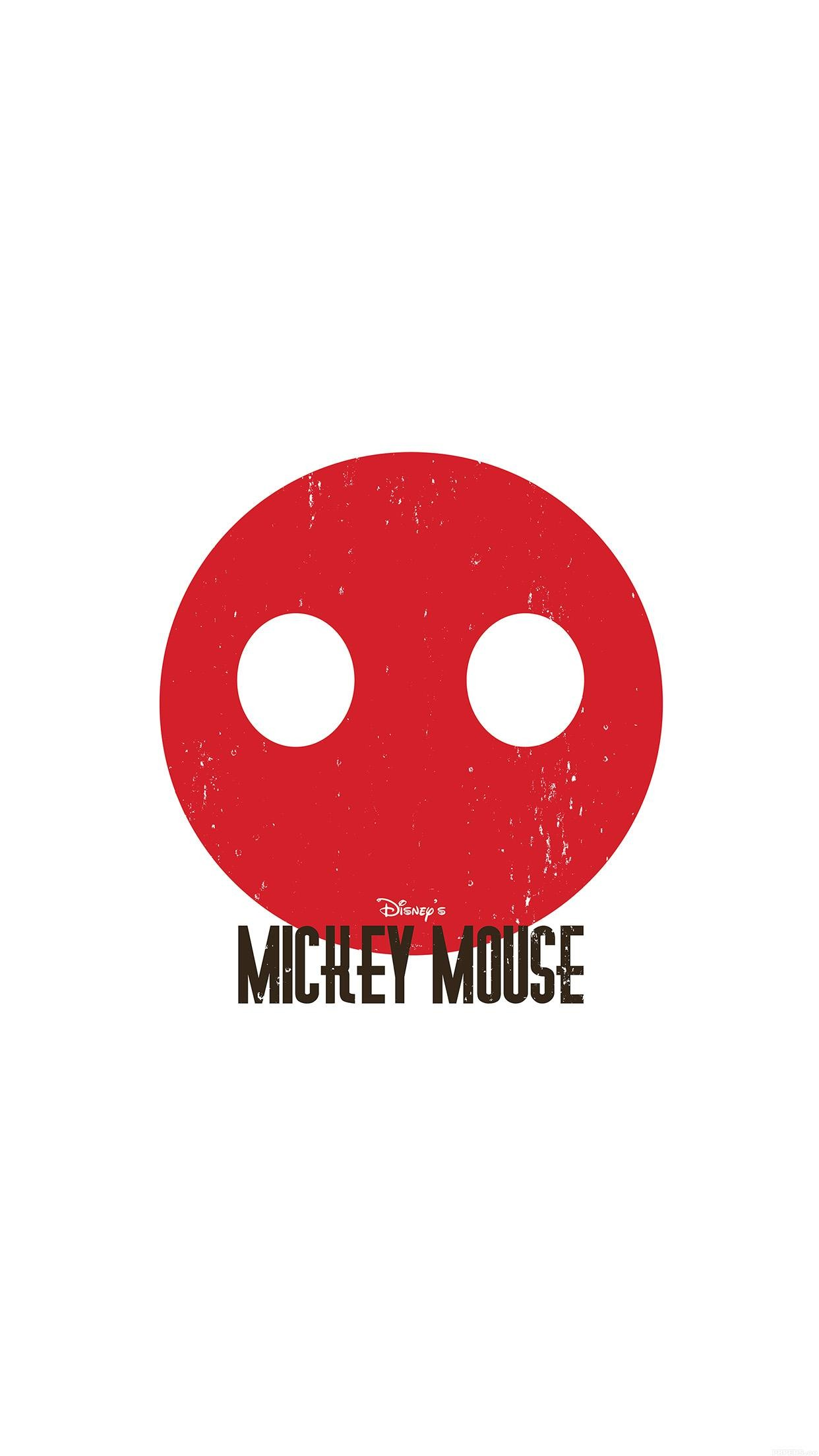 1242x2208 Mickey Mouse Minimal Circle Disney Art