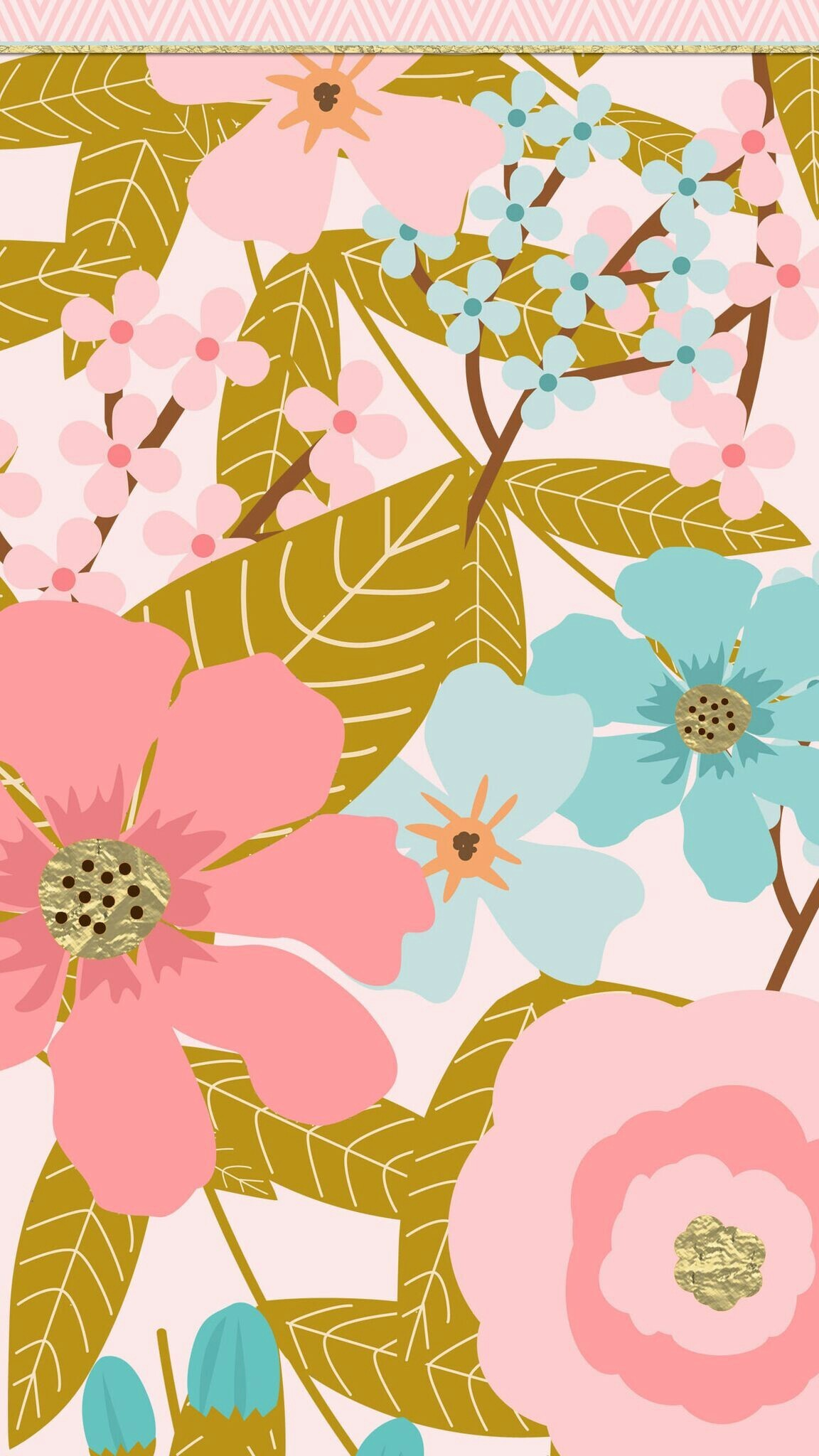 Wallpaper Pink And Blue Flowers 33 Images