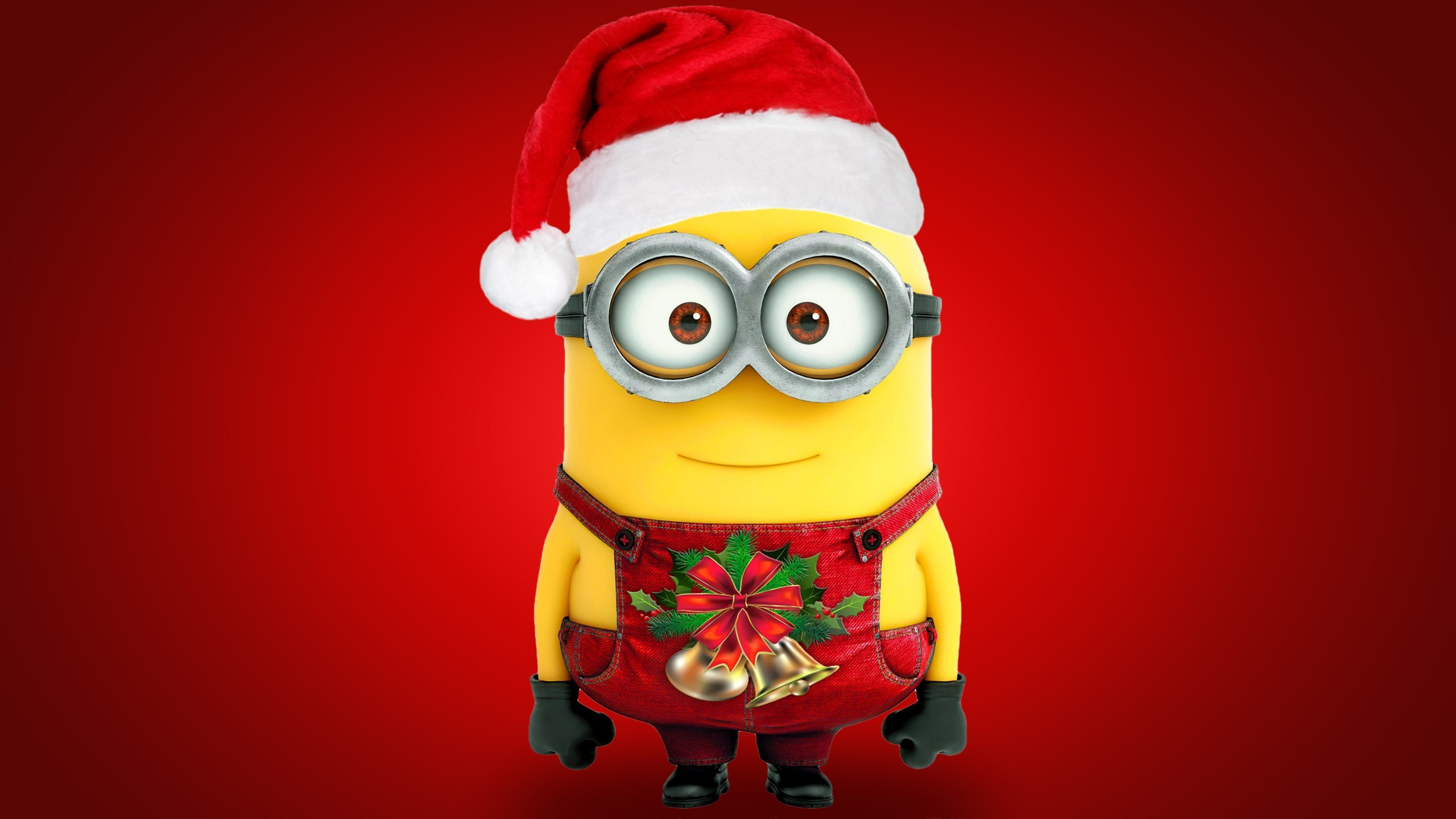 2560x1440 minion christmas desktop wallpaper