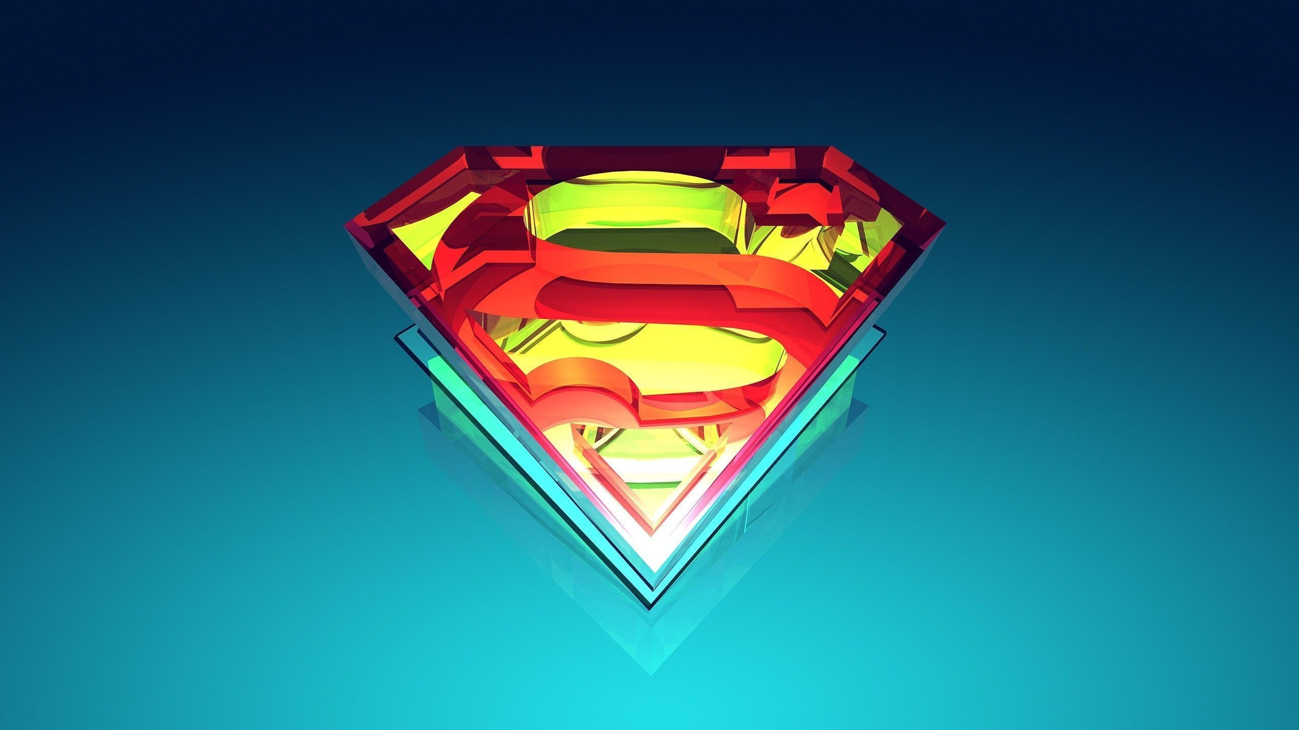 2560x1440  Abstract superman logo wallpaper.