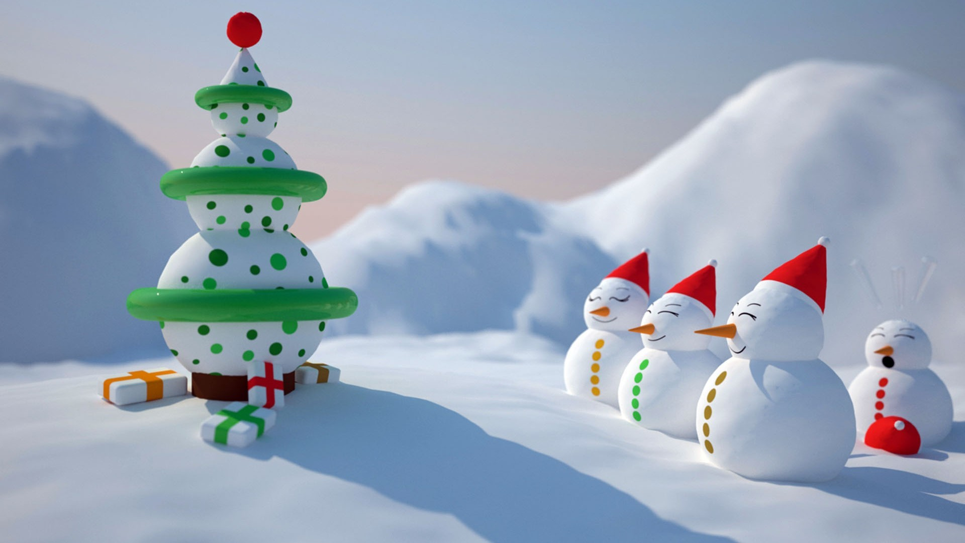 1920x1080 High definition wallpaper download Snowman Christmas Wallpaper HD Wallpaper