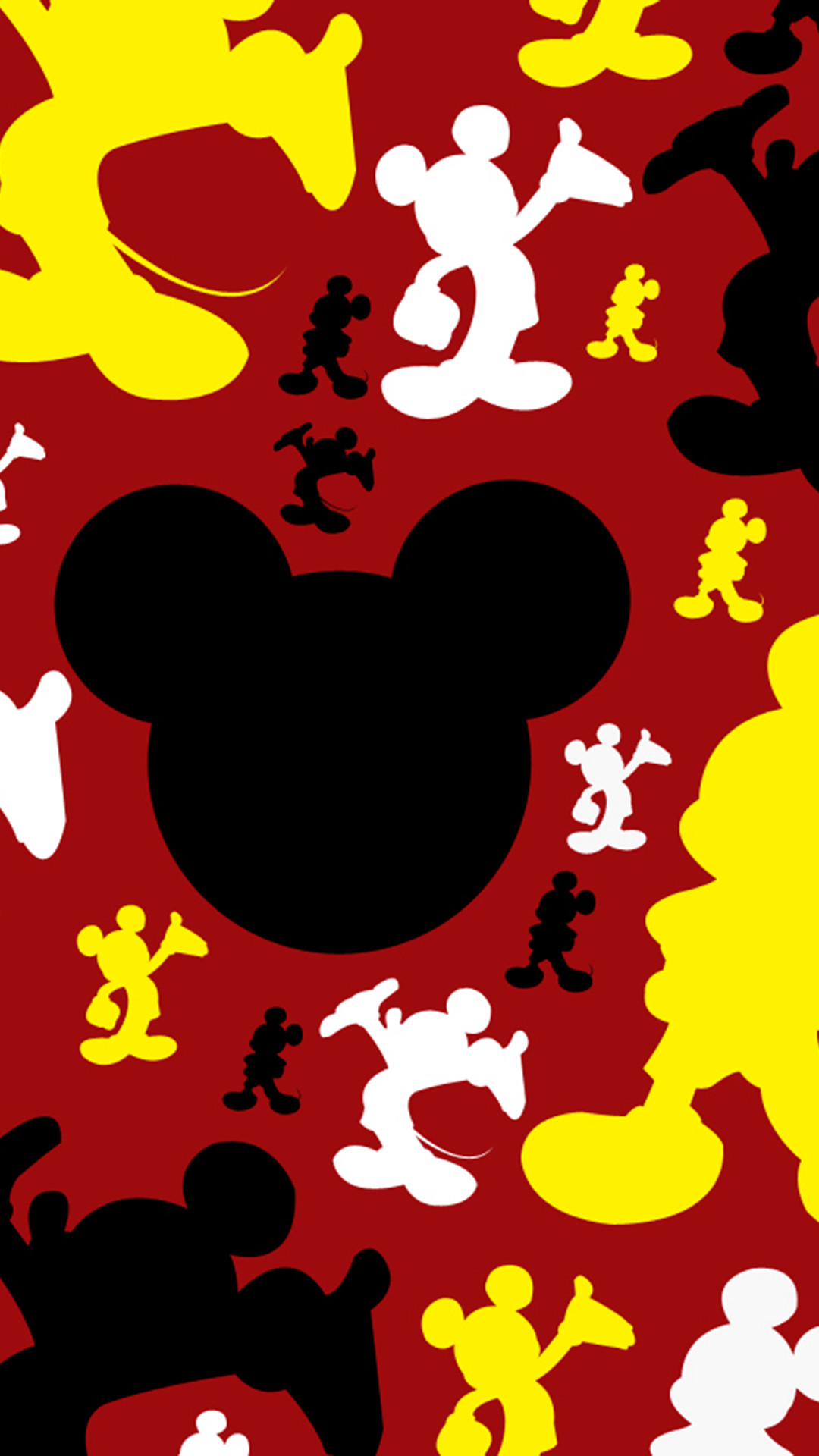 Mickey mouse iphone wallpaper black and white